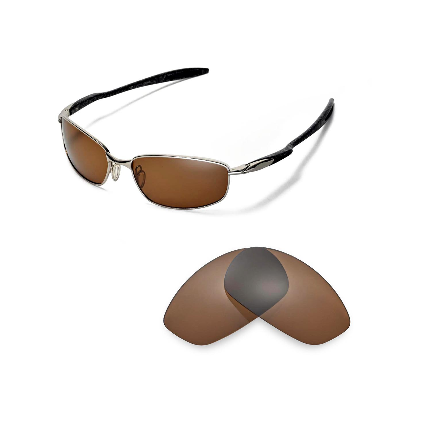 86aeb8d082f Details about Walleva Polarized Brown Replacement Lenses for Oakley Blender  Sunglasses