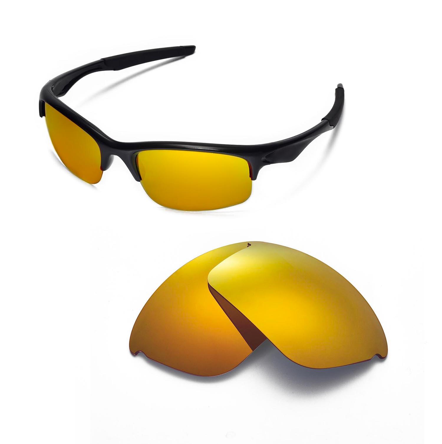 0f5a0e74ef Details about WL Polarized 24K Gold Replacement Lenses For Oakley Bottle  Rocket Sunglasses