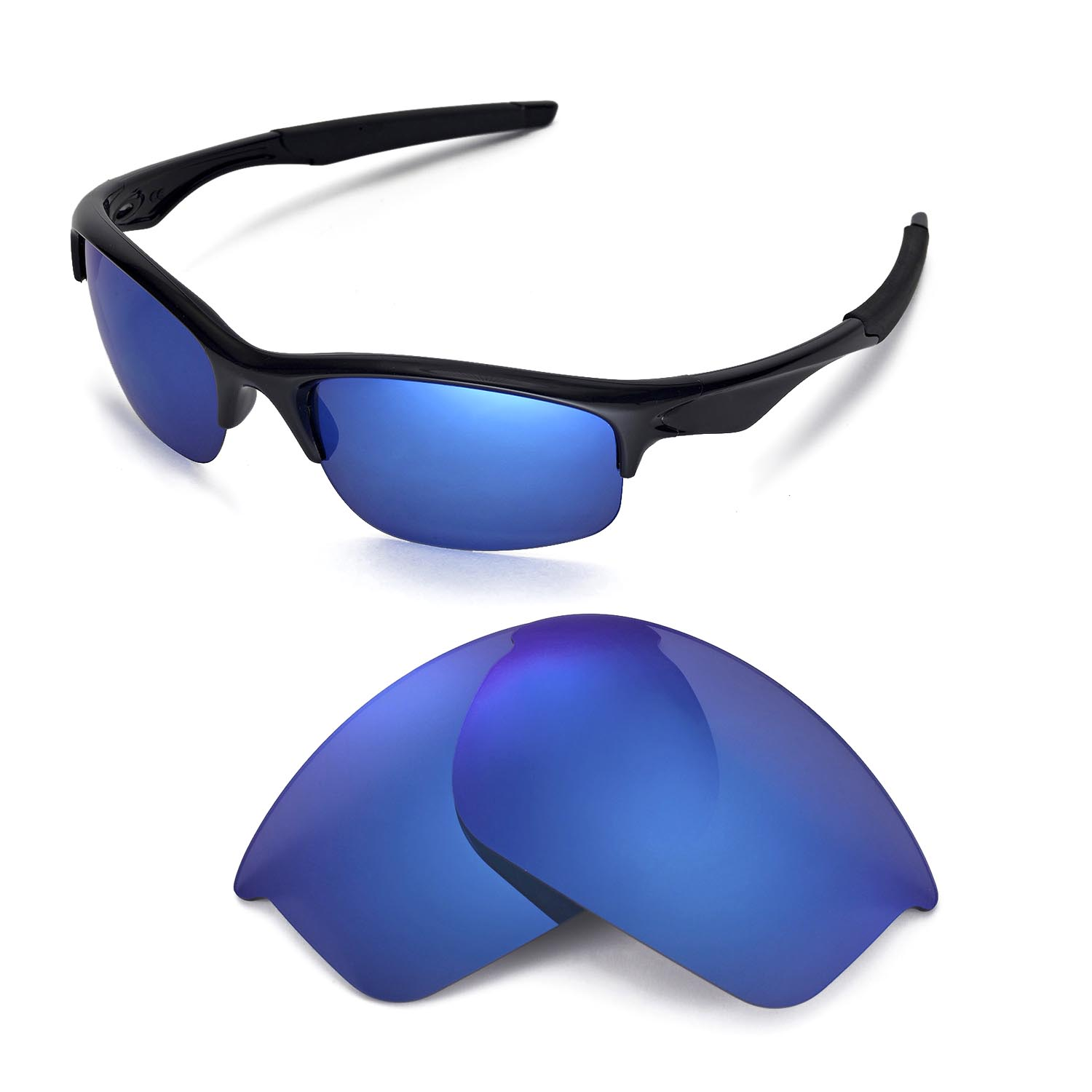 a281fea00c5 Details about WL Polarized Ice Blue Replacement Lenses For Oakley Bottle  Rocket Sunglasses