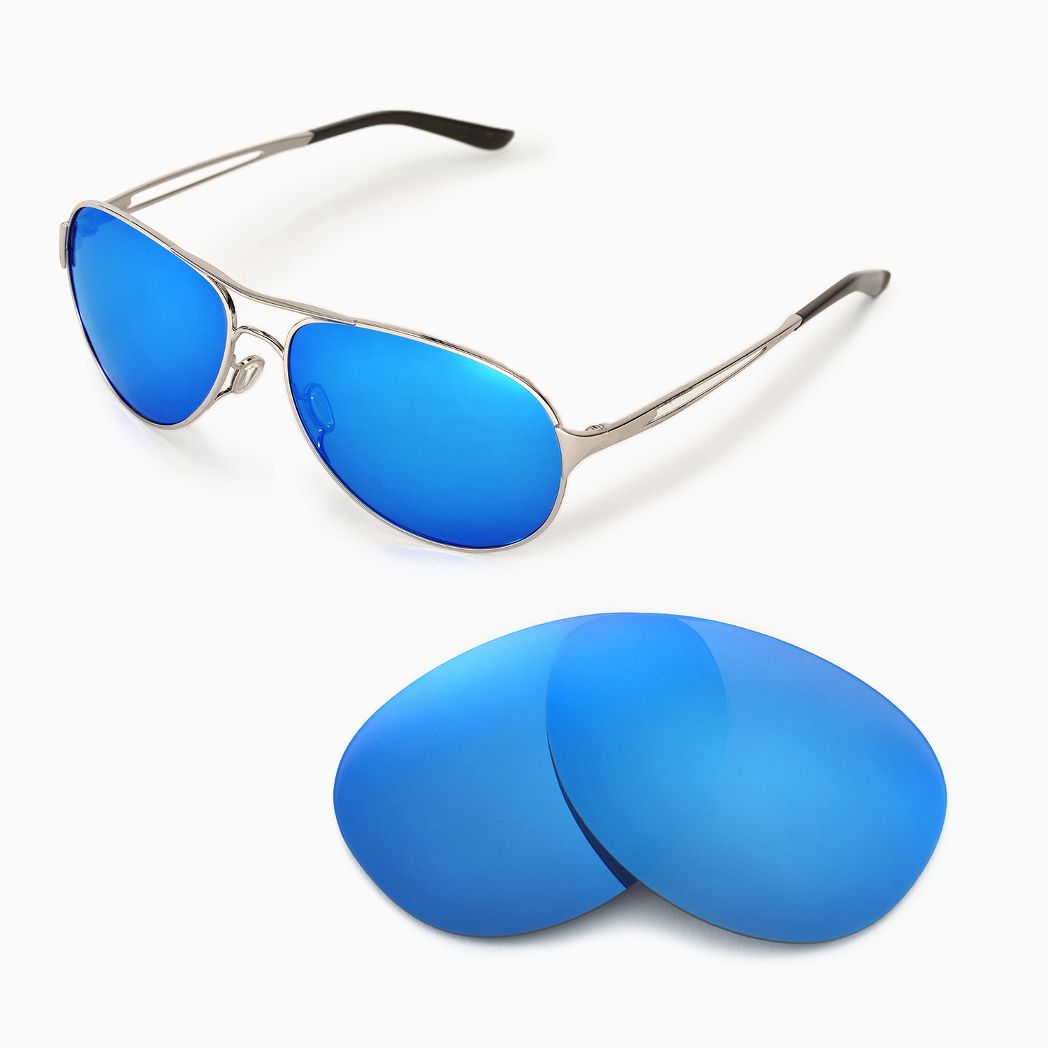 3a3eb6484f Details about New Walleva Ice Blue Polarized Replacement Lenses For Oakley  Caveat Sunglasses