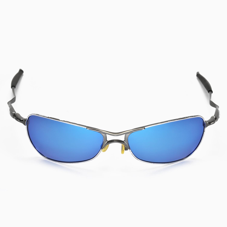 c0aef3b9b7e New Walleva Polarized Fire Red + Ice Blue Lenses For Oakley Crosshair