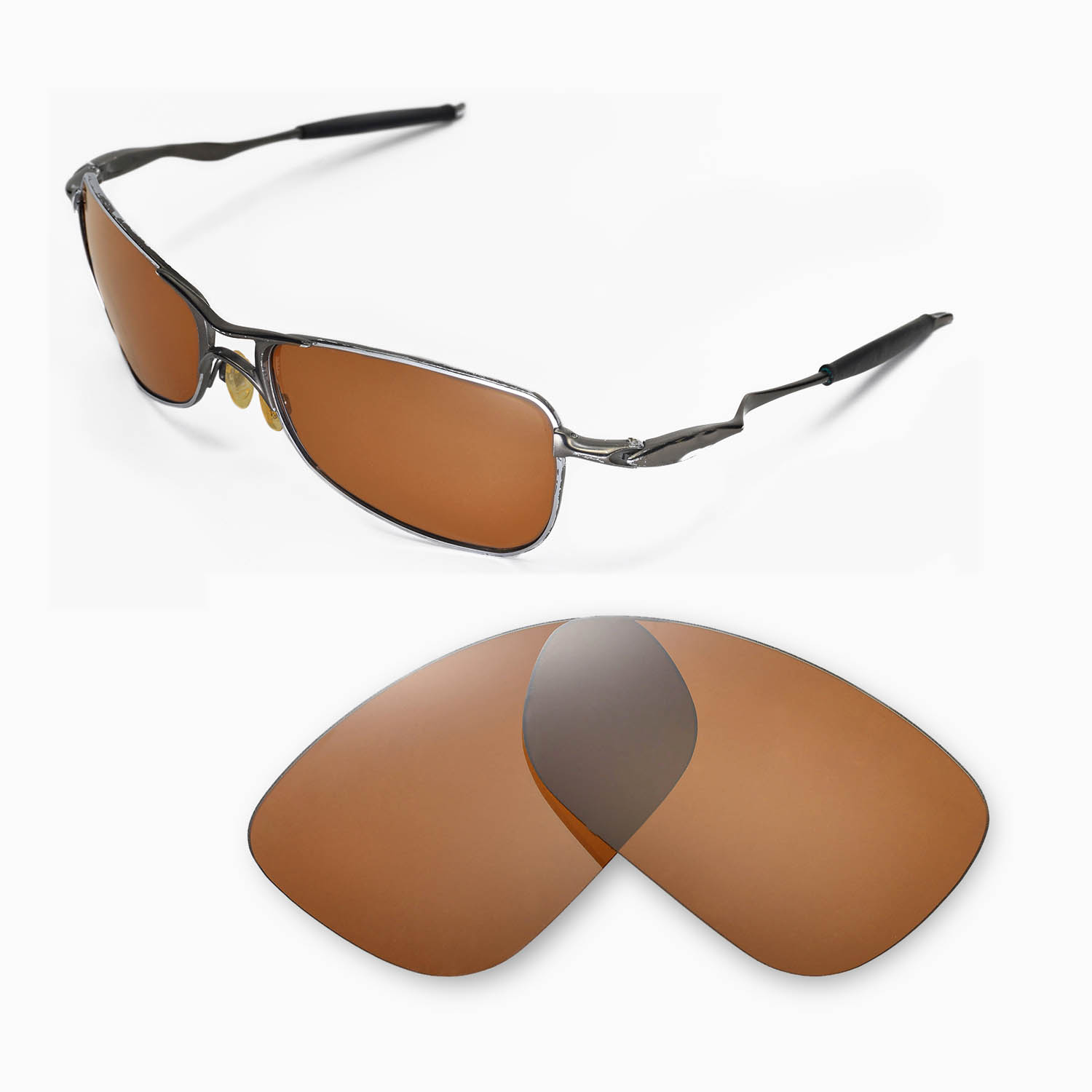 82aa0678c8 New WL Polarized Brown Lenses For Oakley Crosshair 1.0 (2005-2006 ...