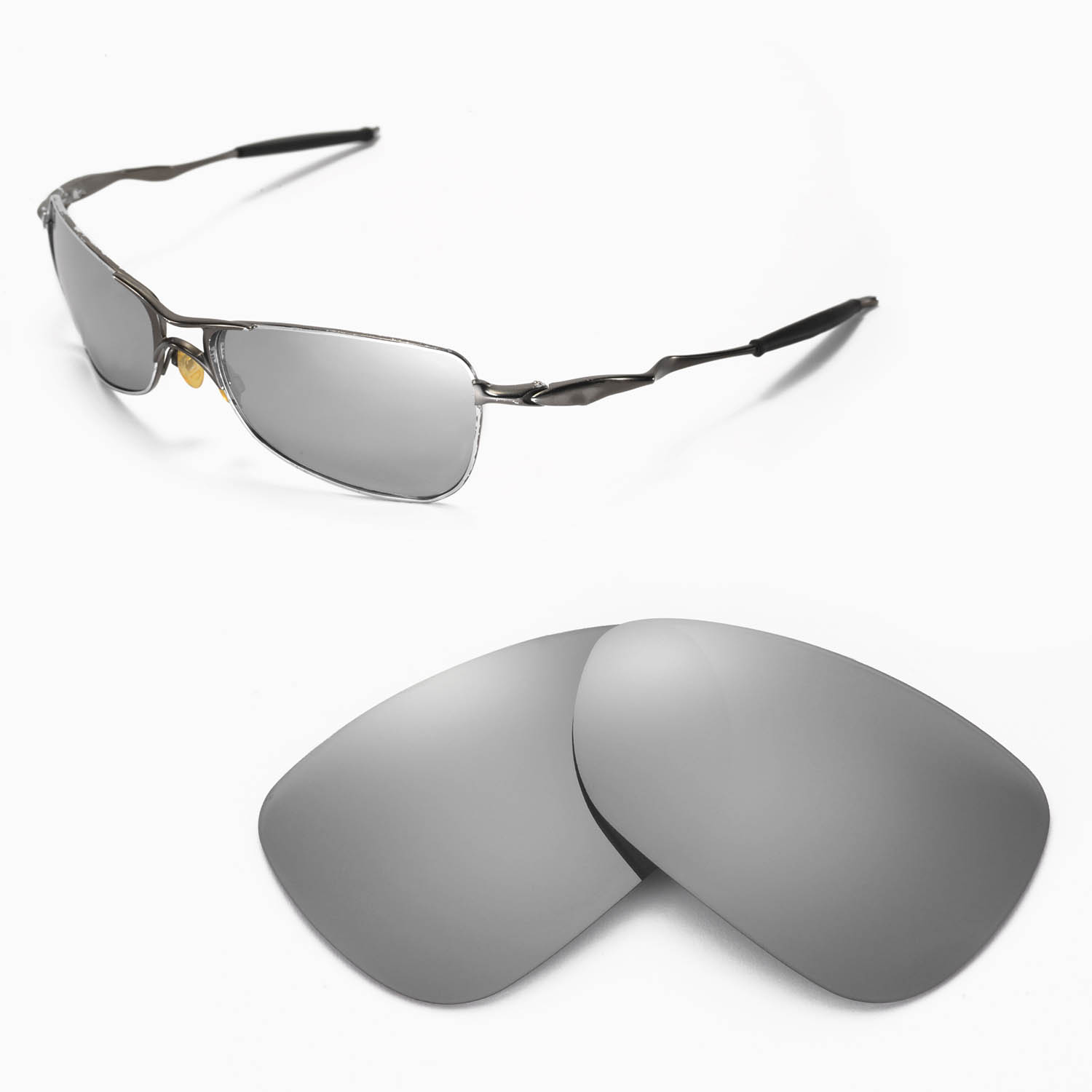 be94df78db6c5 Details about New WL Polarized Titanium Replacement Lenses For Oakley  Crosshair 1.0 Sunglasses
