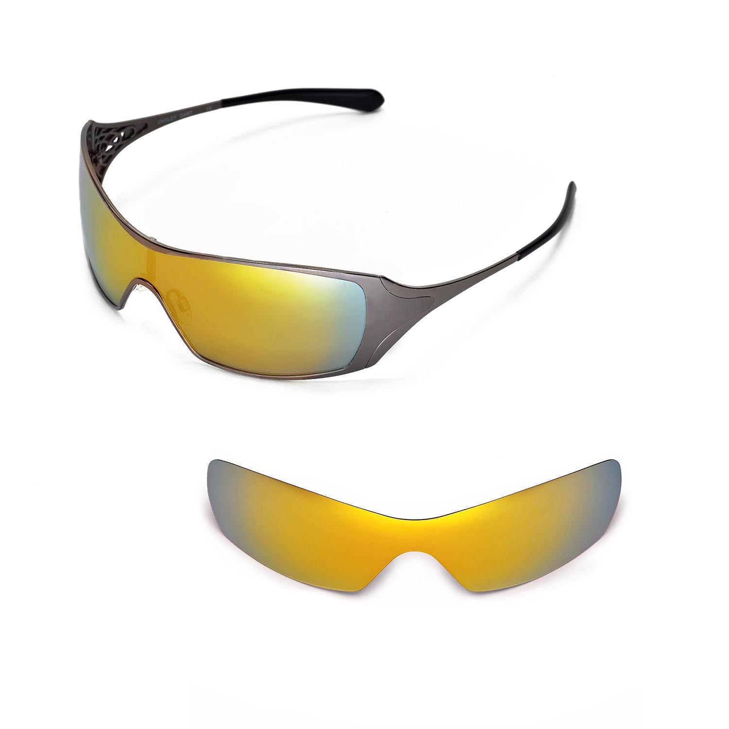 5688094961 Details about New Walleva Polarized 24K Gold Replacement Lenses For Oakley  Dart