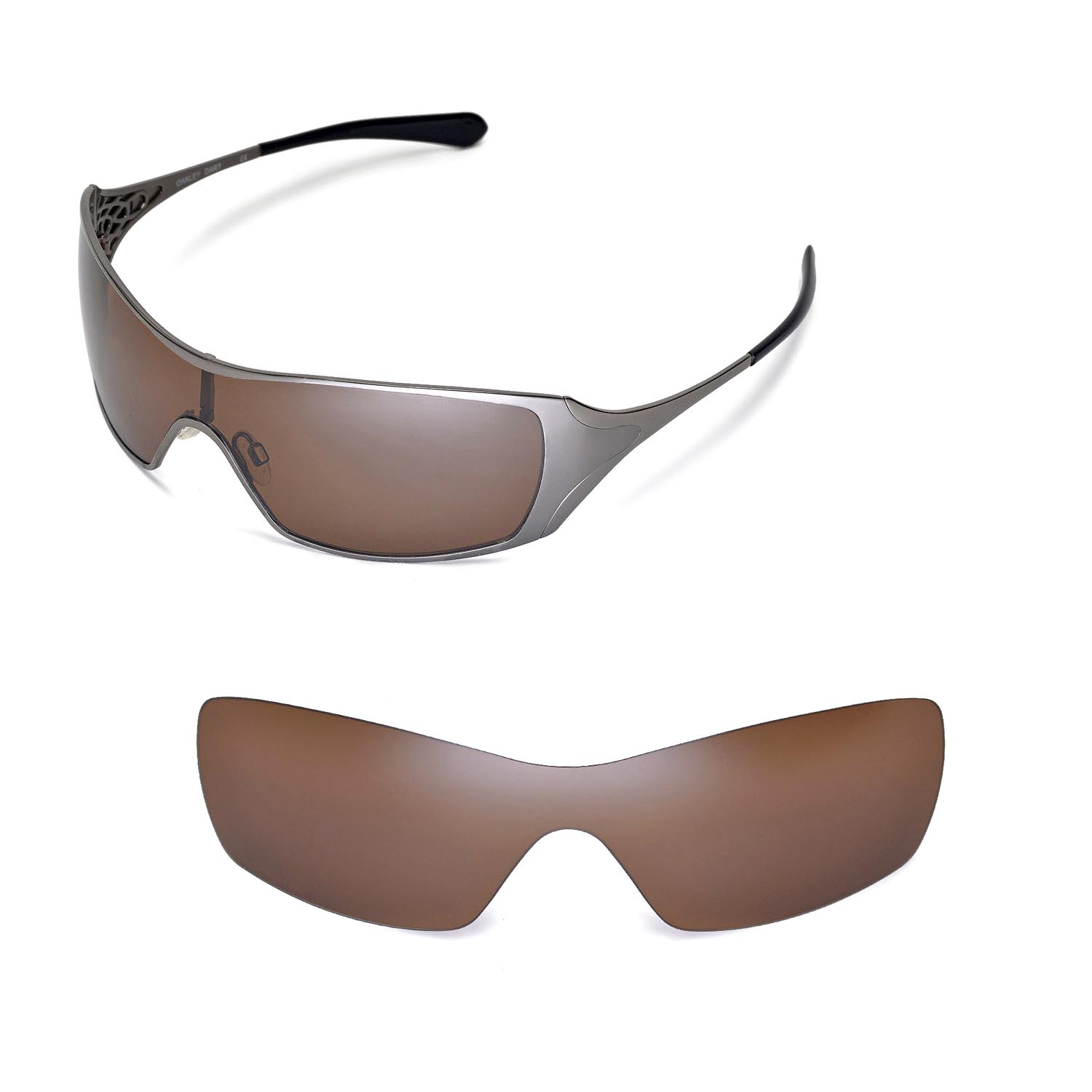 c344797ebd3 Details about New Walleva Polarized Brown Replacement Lenses For Oakley  Dart Sunglasses
