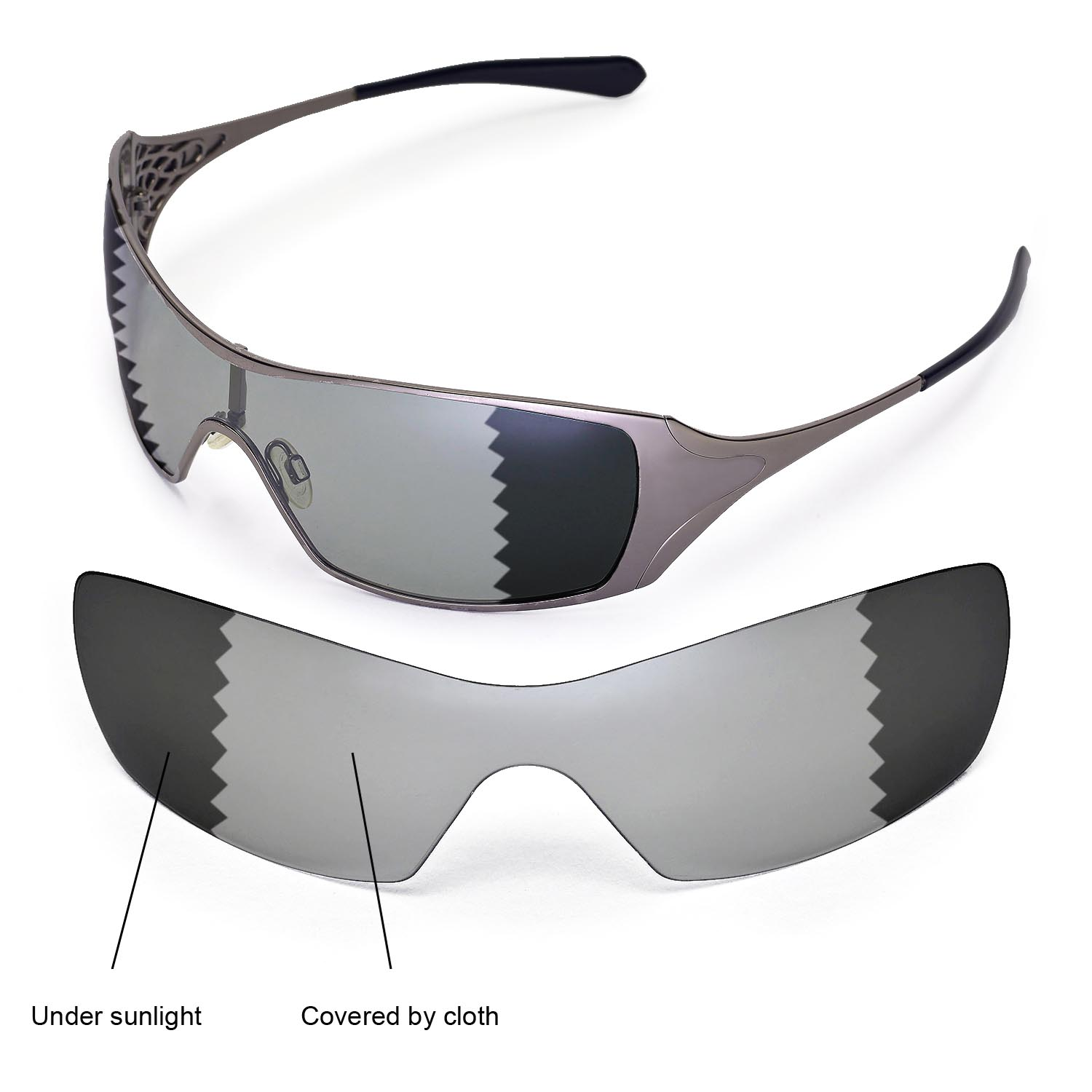 b673c94838 Details about Walleva Polarized Transition Photochromic Replacement Lenses  For Oakley Dart