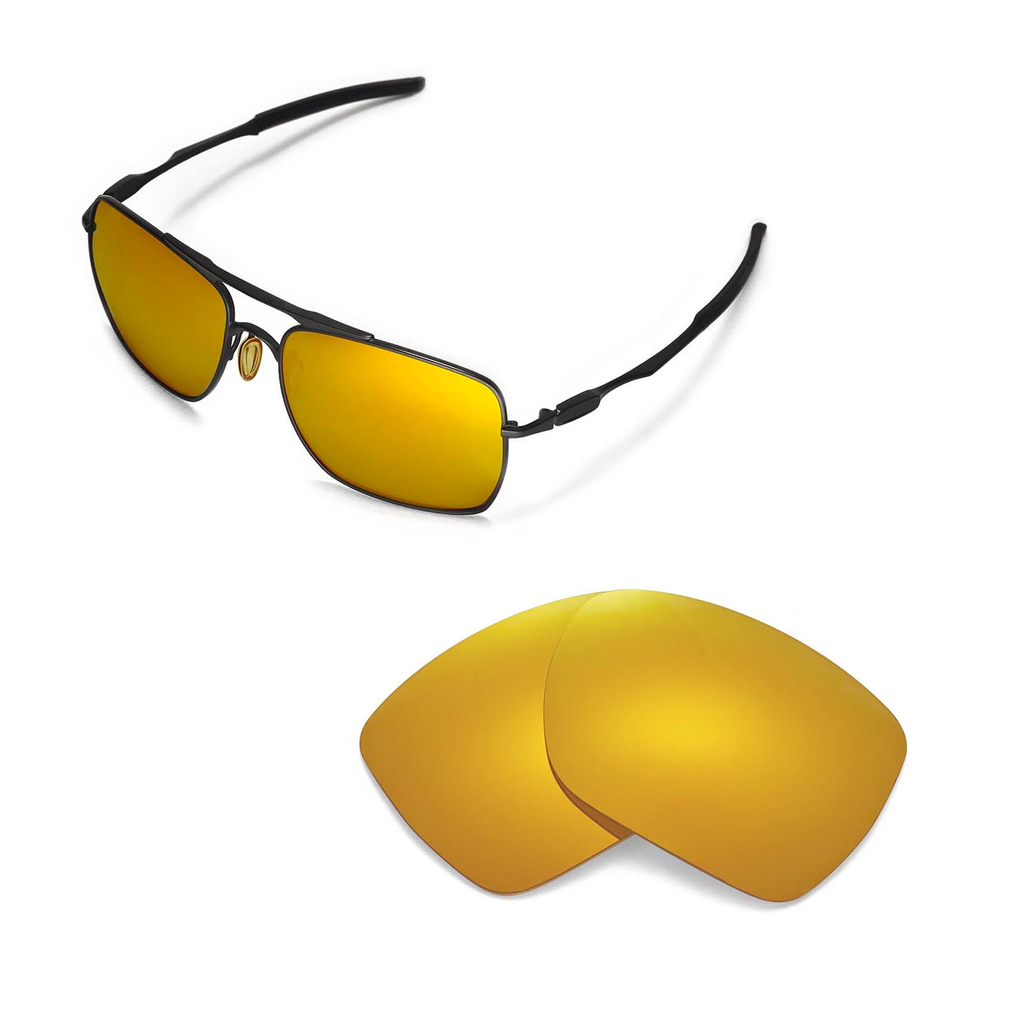 8d67f2012a Details about New WL 24K Gold Replacement Lenses For Oakley Deviation  Sunglasses