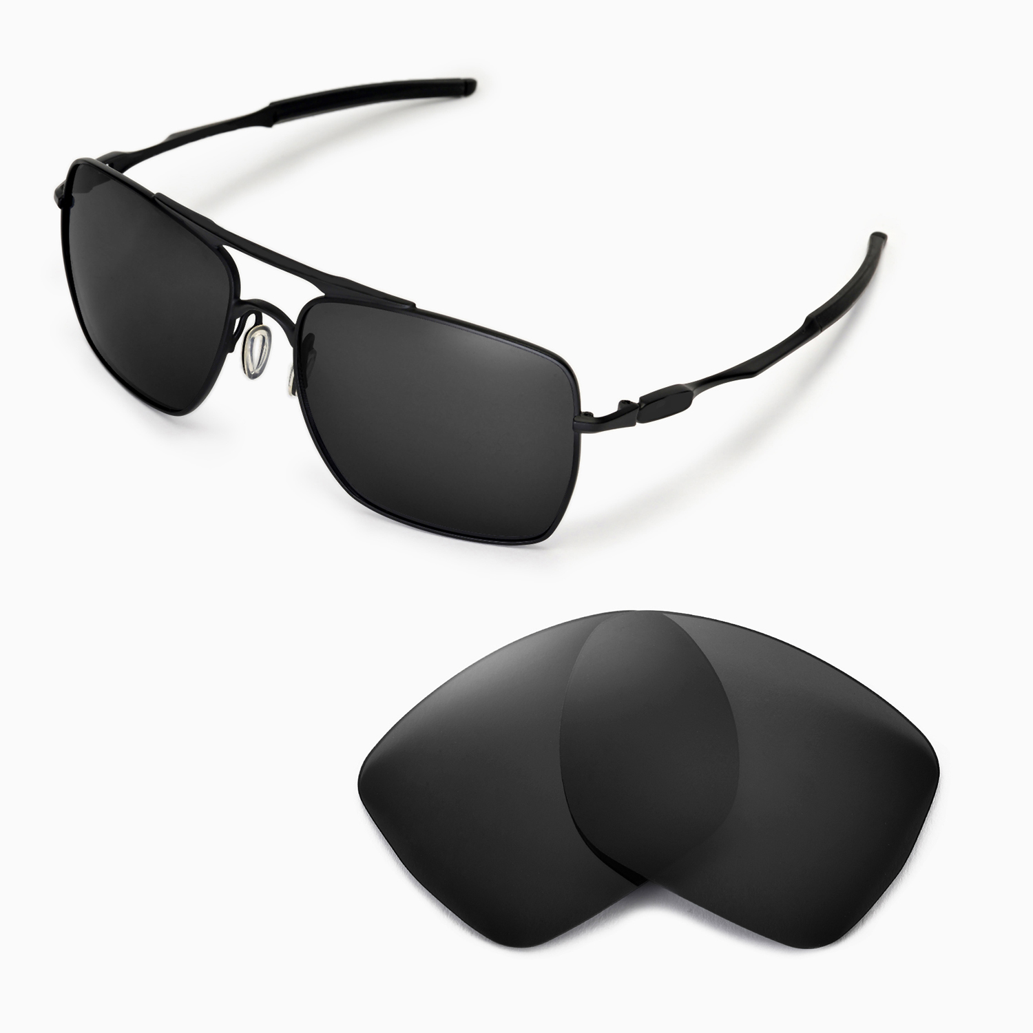 new wl polarized black replacement lenses for oakley deviation rh ebay com