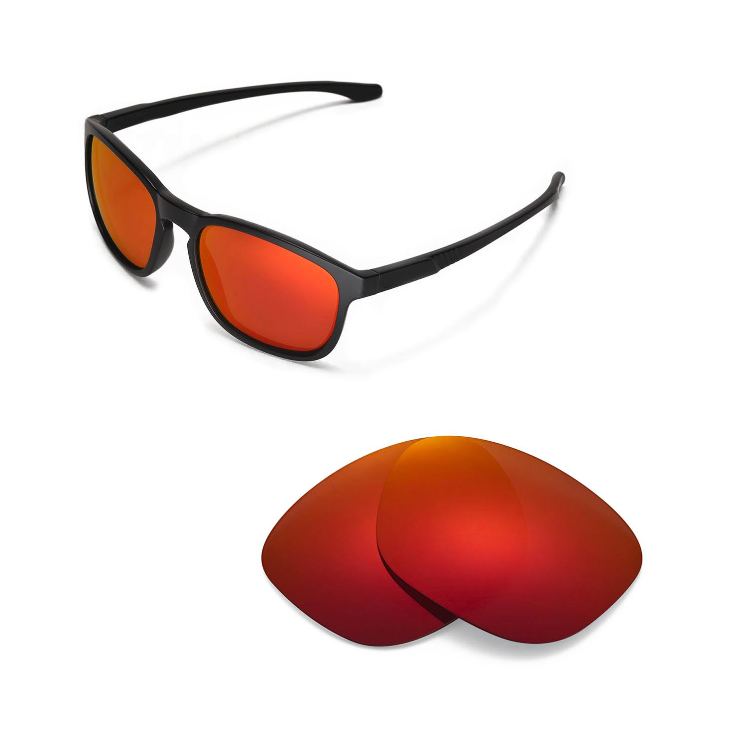 15a6f43ff4 Details about New Walleva Polarized Fire Red Lenses For Oakley Enduro  Sunglasses
