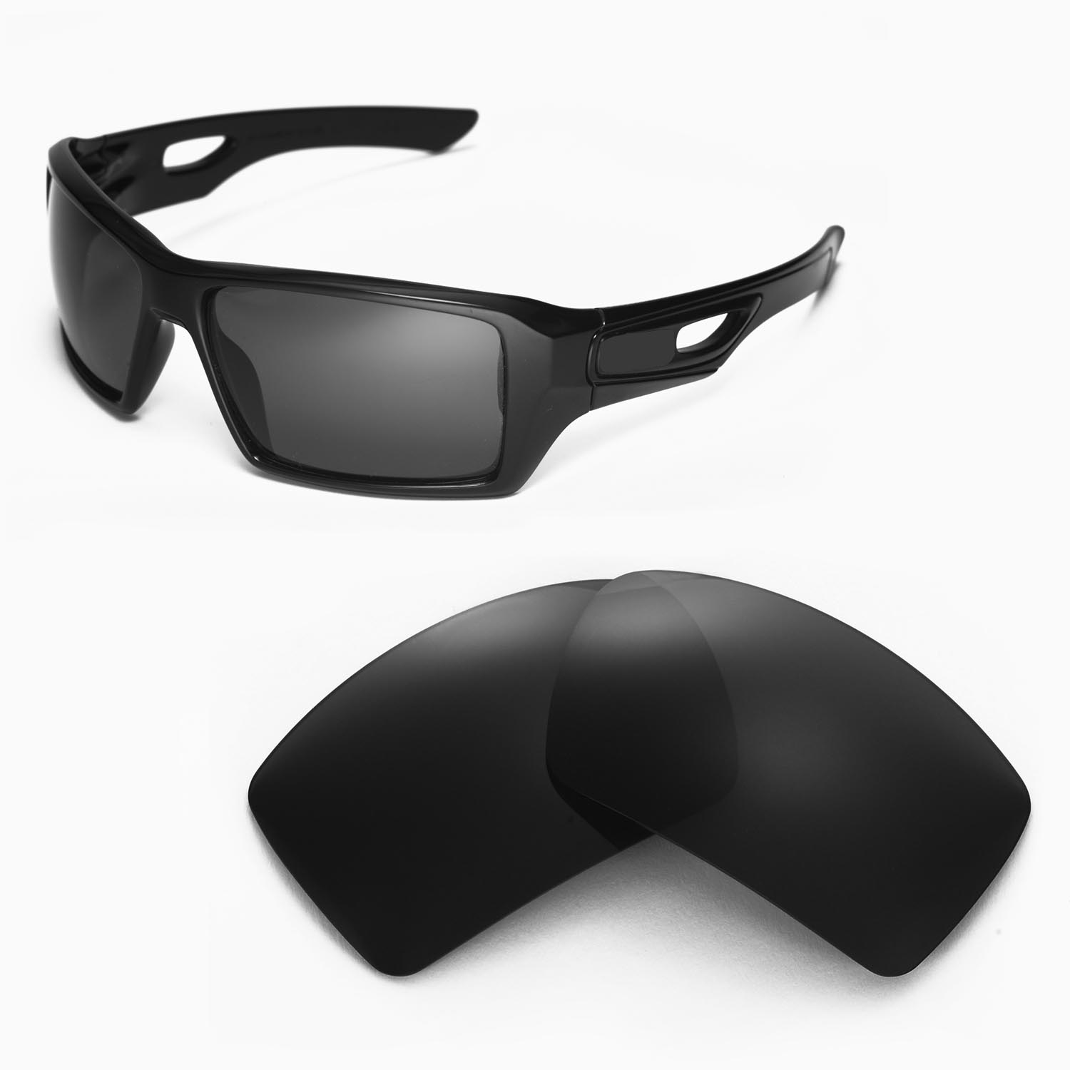 e97d342015 Details about New WL Polarized Black Replacement Lenses For Oakley Eyepatch  2 Sunglasses