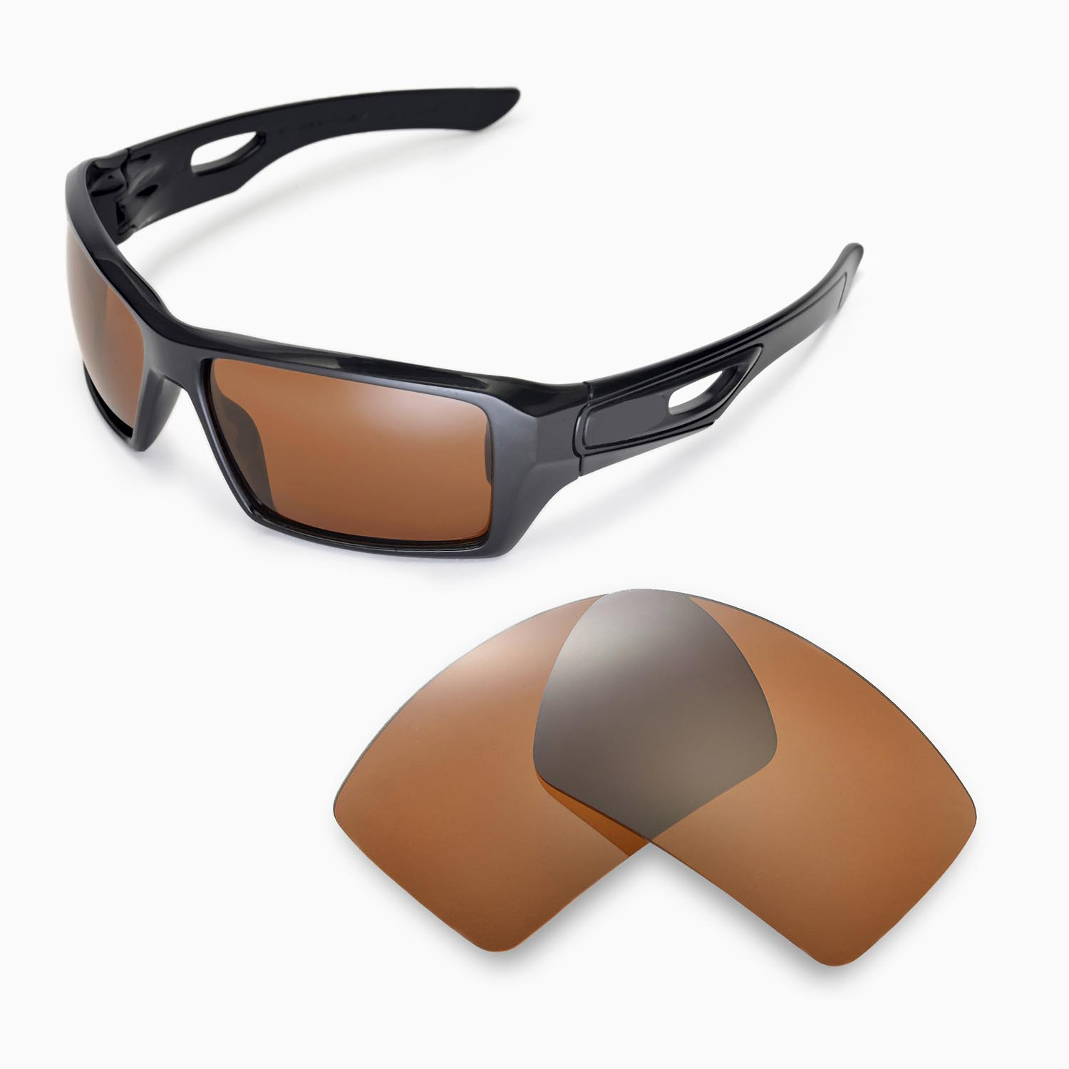 3cc520999c7 Details about New WL Polarized Brown Replacement Lenses For Oakley Eyepatch  2 Sunglasses