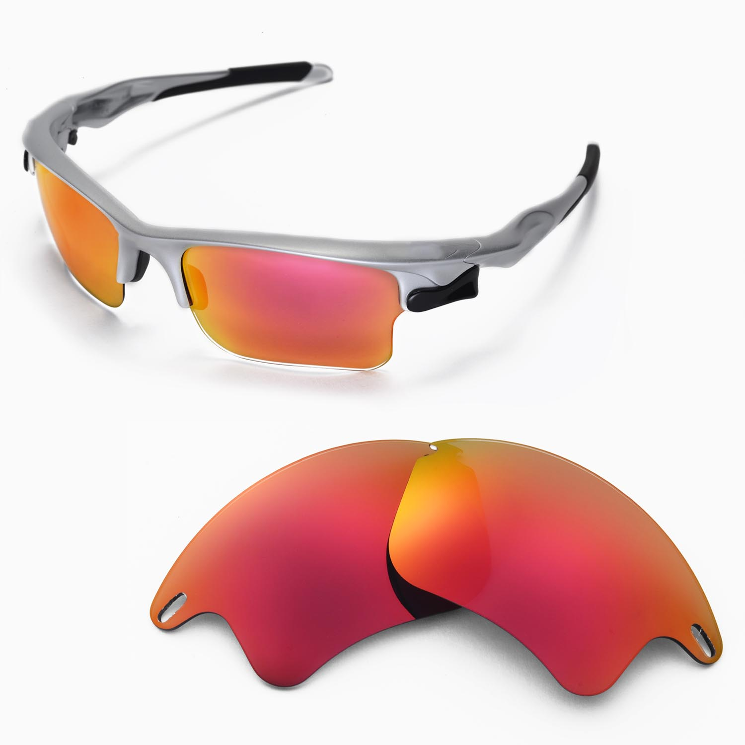 bd8e83fd68b Details about WL Polarized Fire Red Replacement Lenses For Oakley Fast  Jacket XL Sunglasses