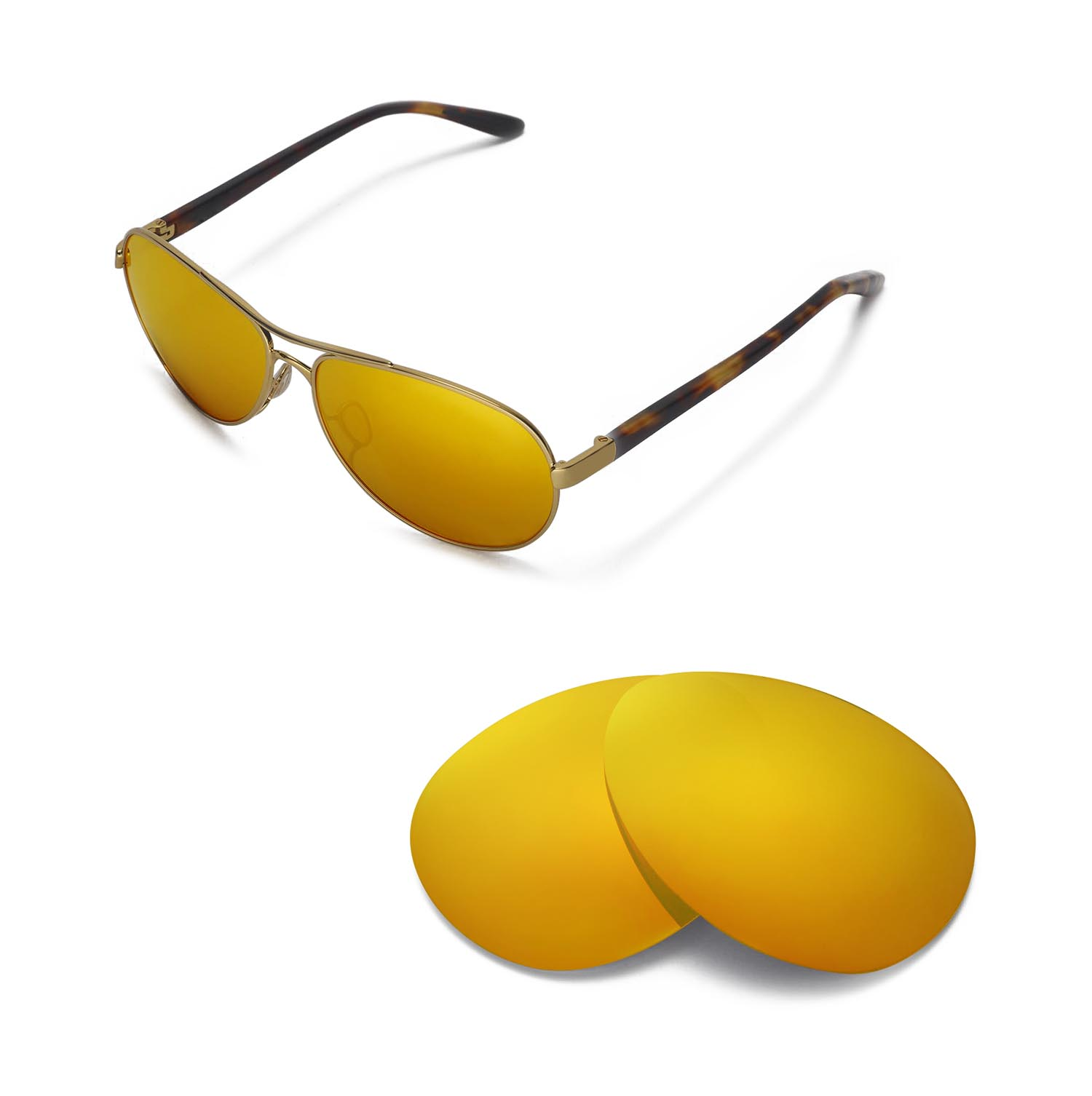 cdde9d2e1b71e Details about New Walleva Polarized 24K Gold Lenses For Oakley Feedback  Sunglasses
