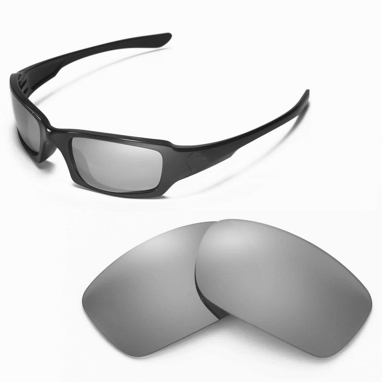 988230fa4a9 Details about New Walleva Polarized Titanium Lenses For Oakley Fives 3.0