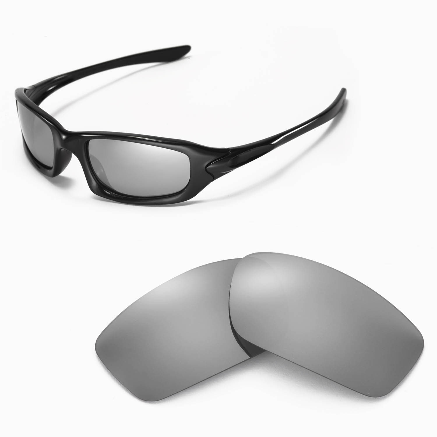 9bacbcca1e Details about New Walleva Polarized Titanium Lenses For Oakley Fives 4.0