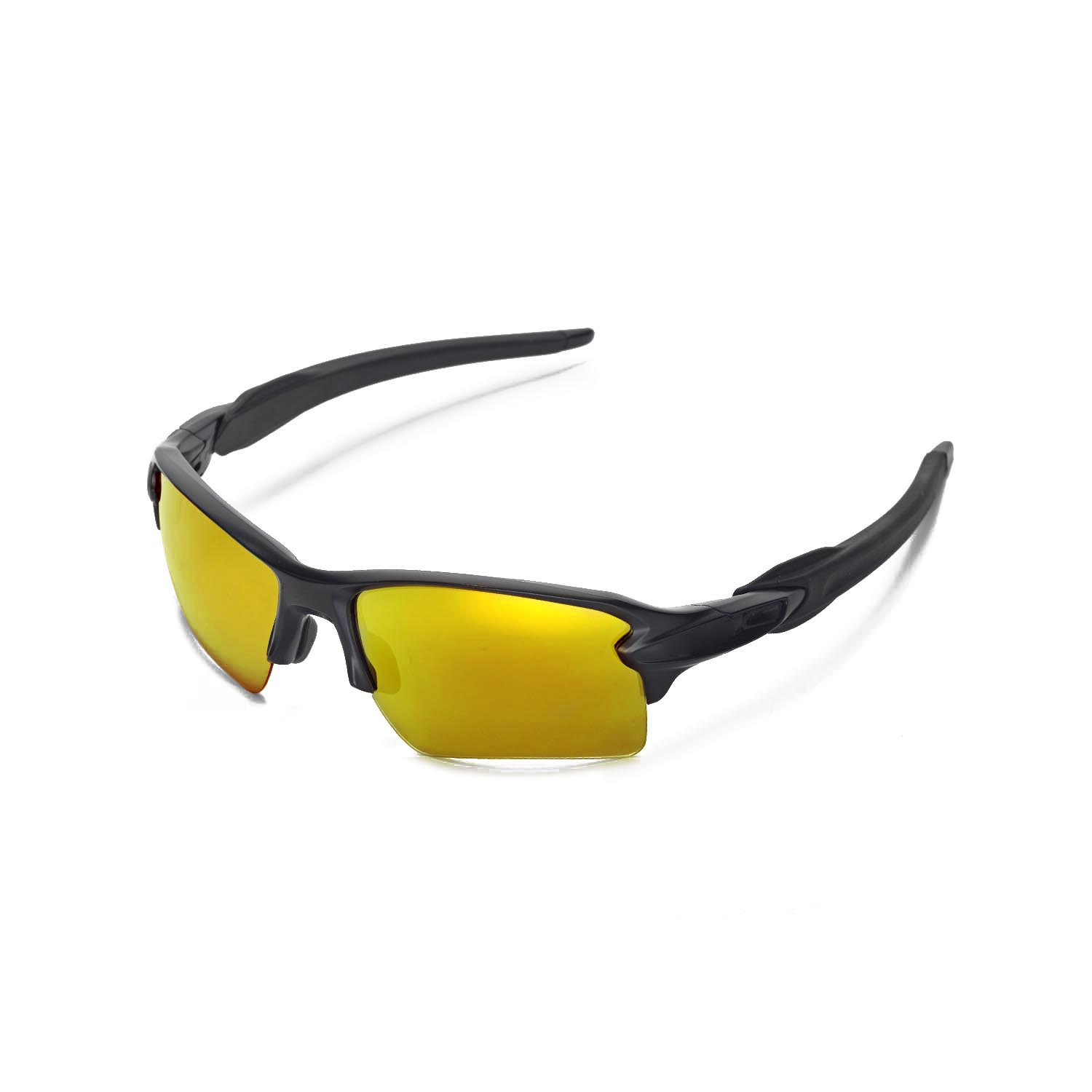 4607f9f78af Details about Walleva Polarized 24K Gold Replacement Lenses For Oakley Flak  2.0 XL Sunglasses