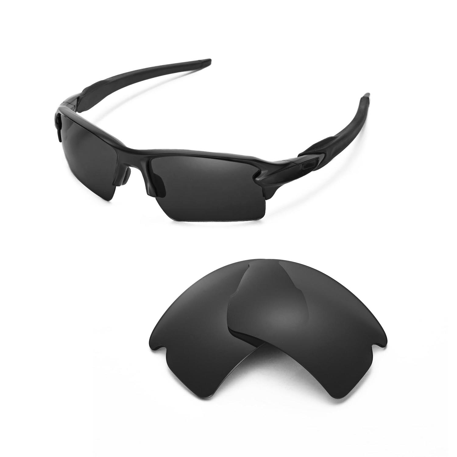 009290f40f9 Details about New Walleva Polarized Black Replacement Lenses For Oakley  Flak 2.0 XL Sunglasses