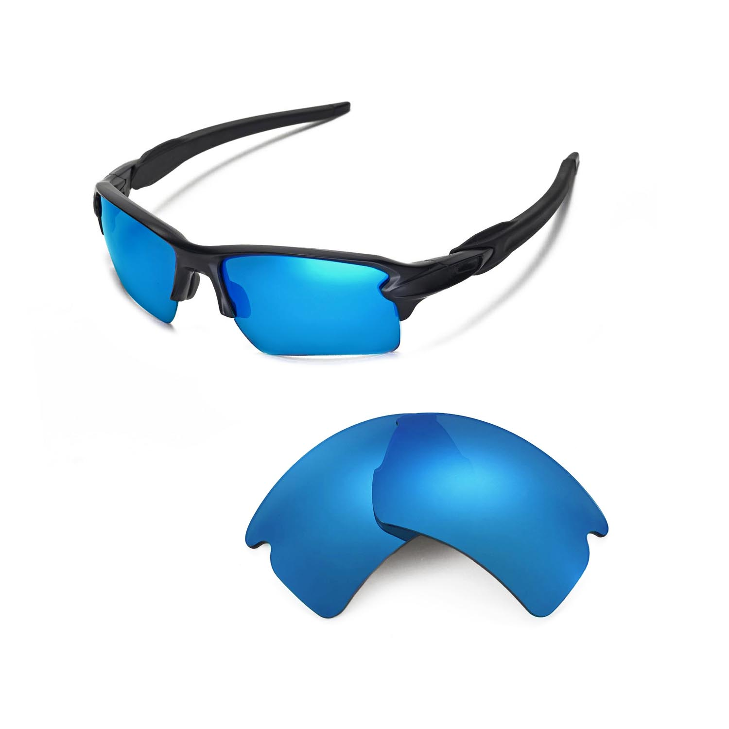 b9ea0e53a36ee Details about Walleva Polarized Ice Blue Replacement Lenses For Oakley Flak  2.0 XL Sunglasses
