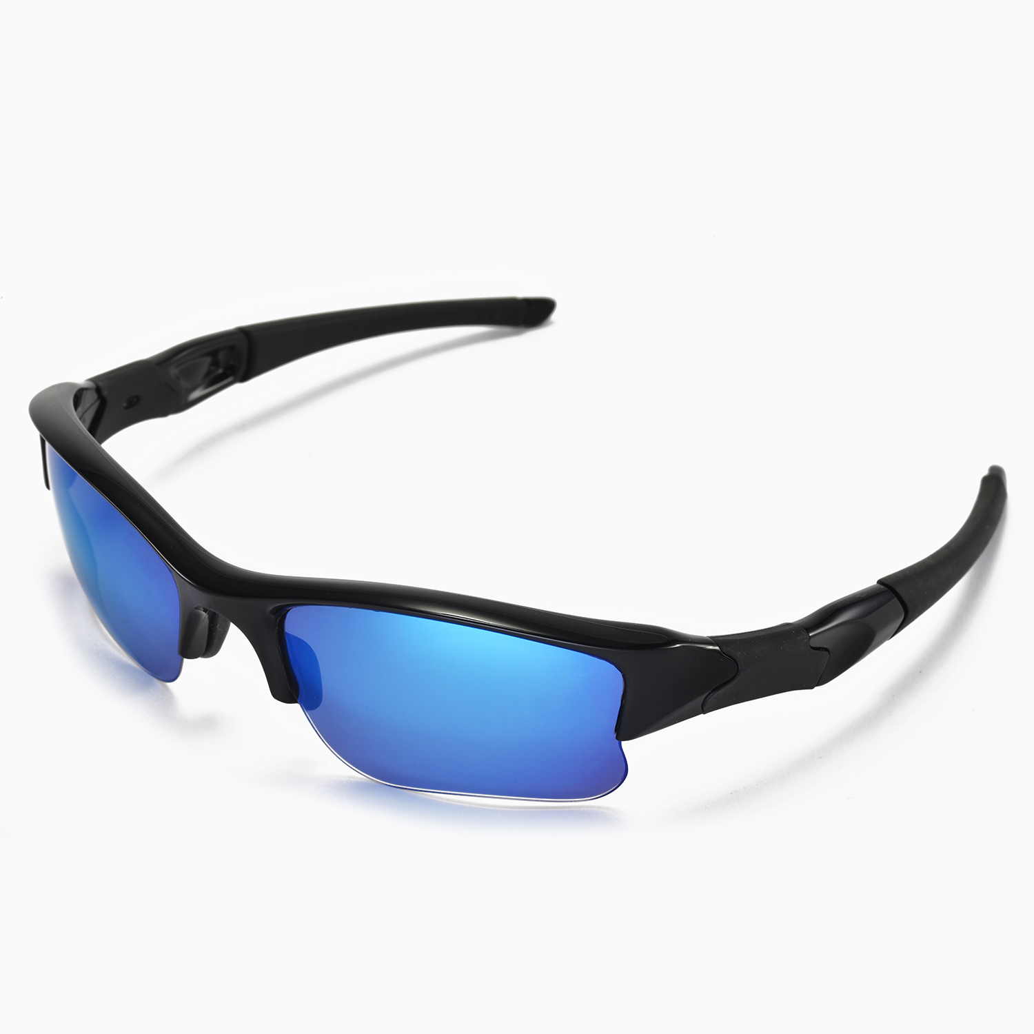 New Walleva Blue Lenses For Oakley Flak Jacket XLJ