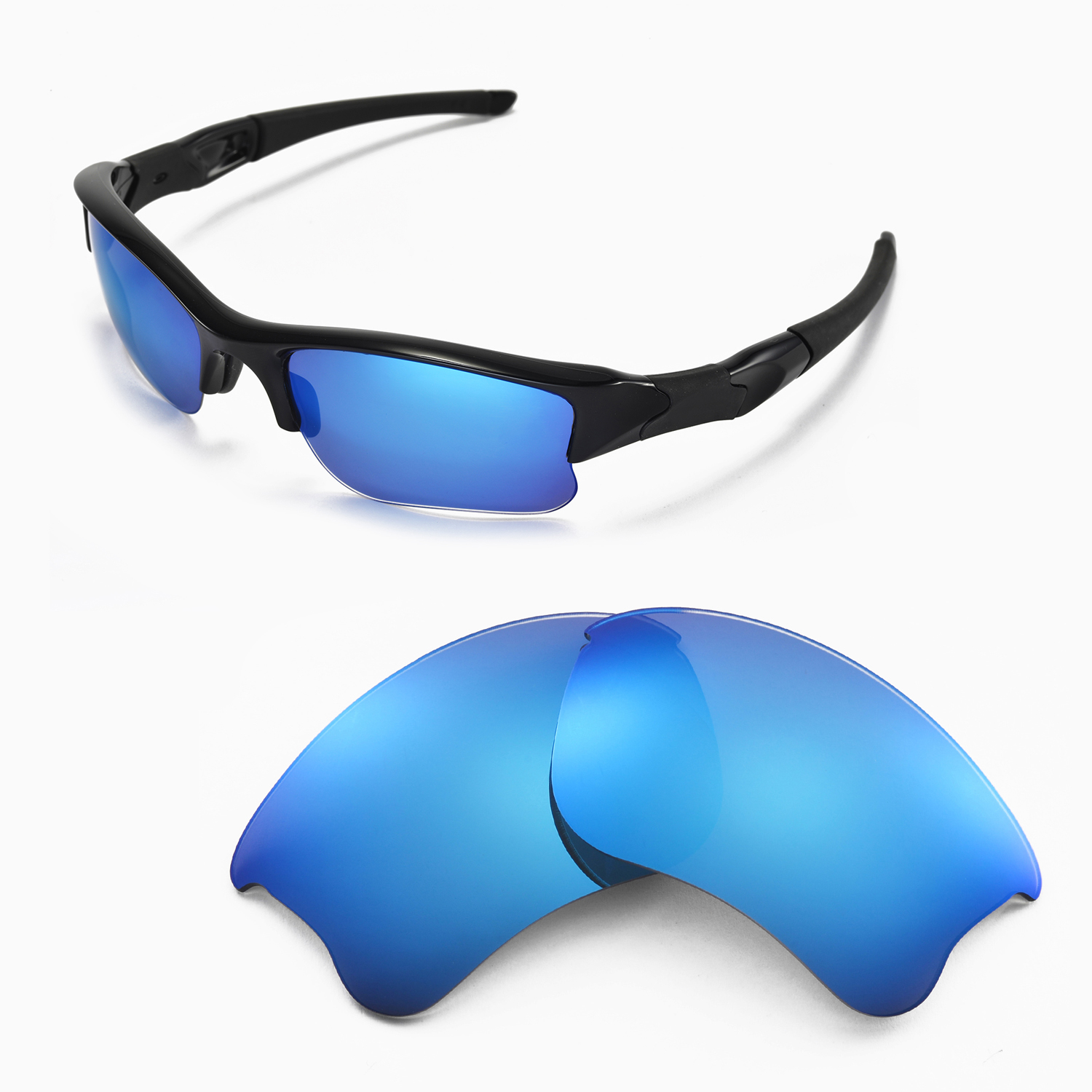 28031ce8463 Details about Walleva Ice Blue ISARC Polarized Replacement Lenses For Oakley  Flak Jacket XLJ