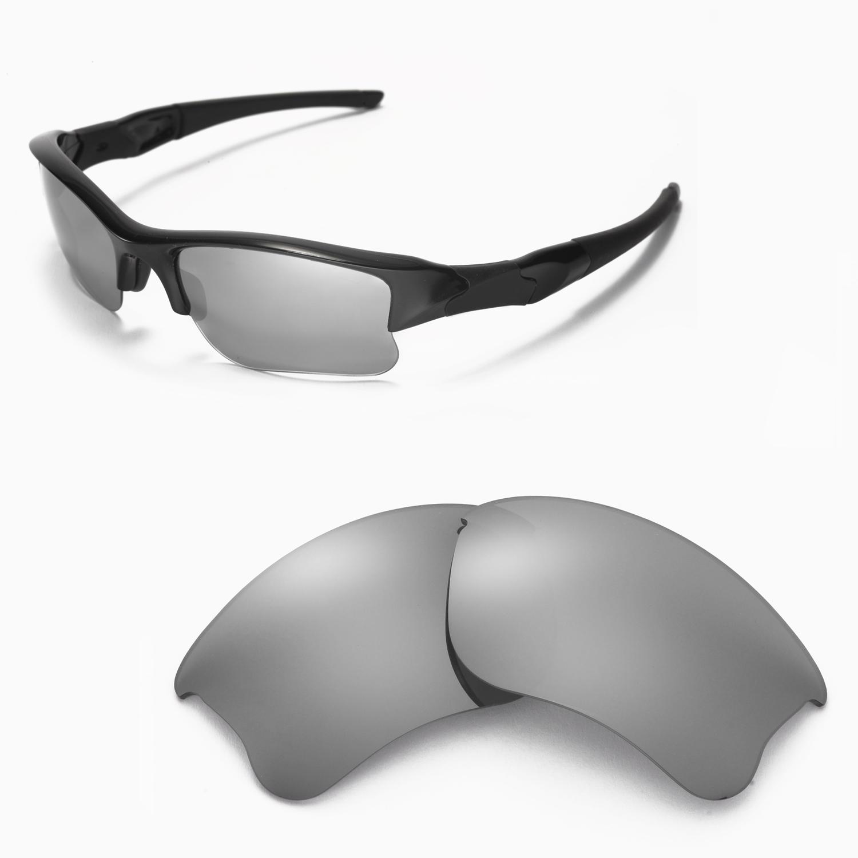 55cb7d5c4f Details about New Walleva Titanium Replacement Lenses For Oakley Flak Jacket  XLJ Sunglasses