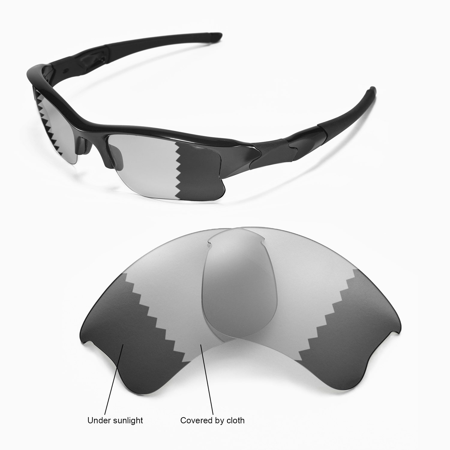 fadc017d5b Details about New Walleva Polarized Transition Photochromic Lenses For  Oakley Flak Jacket XLJ