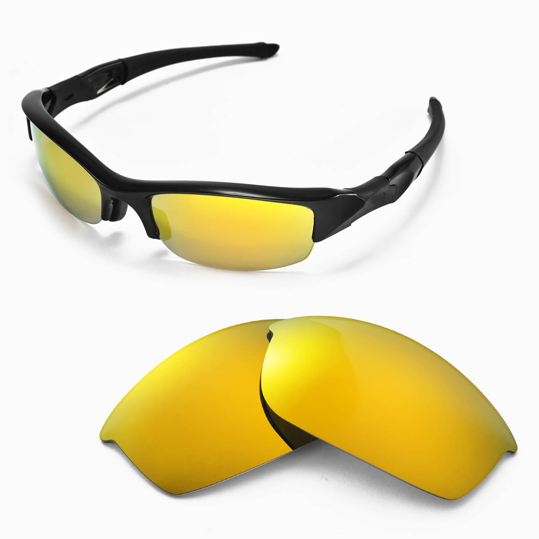 46d65e2d5e Walleva Replacement Lenses for Oakley Flak Jacket Sunglasses - Multiple  Options