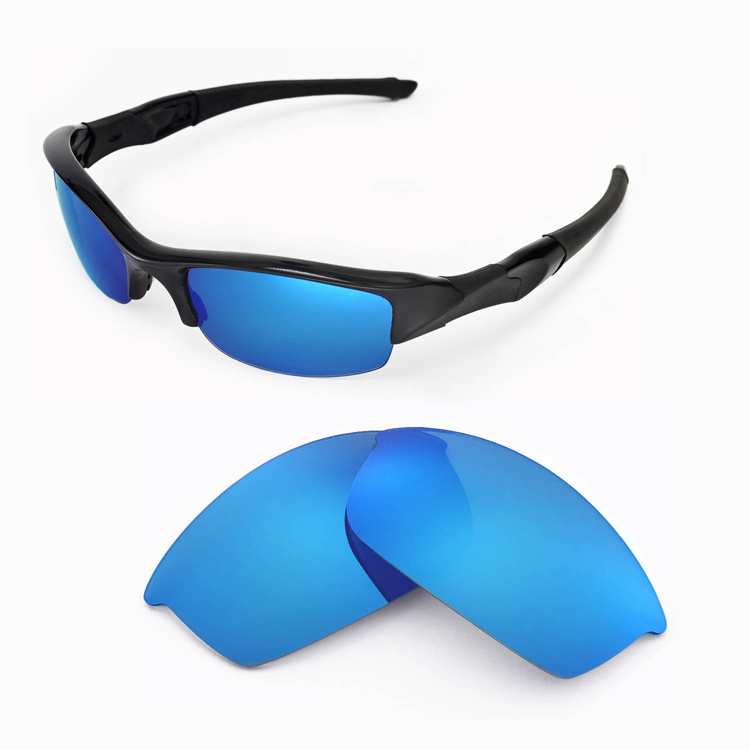 159fd29d7a5 Details about New WL Polarized Ice Blue Replacement Lenses For Oakley Flak  Jacket Sunglasses