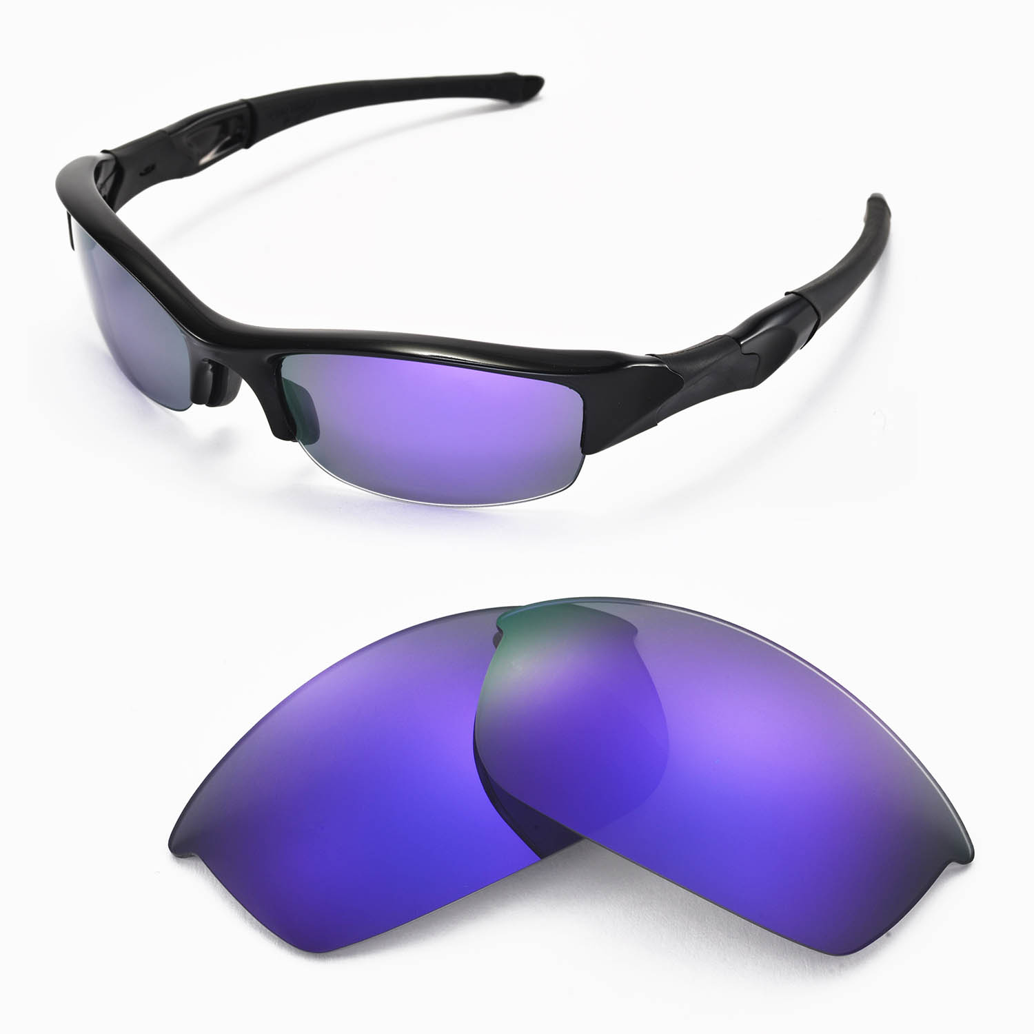 b4522fc9e5 Walleva Replacement Lenses for Oakley Flak Jacket .. in Pakaian ...