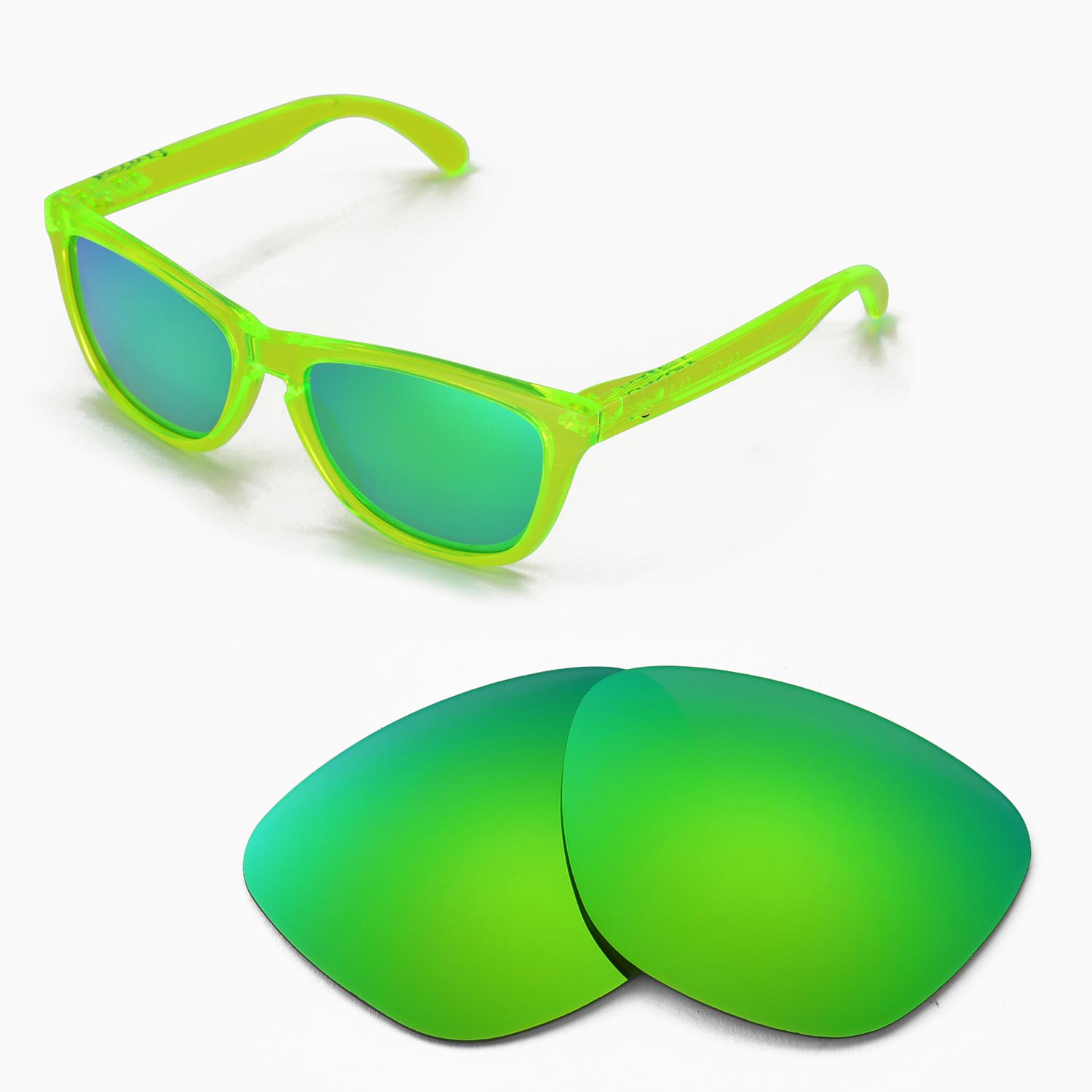 972b2927fe8 Details about New Walleva Emerald Polarized Replacement Lenses For Oakley  Frogskins