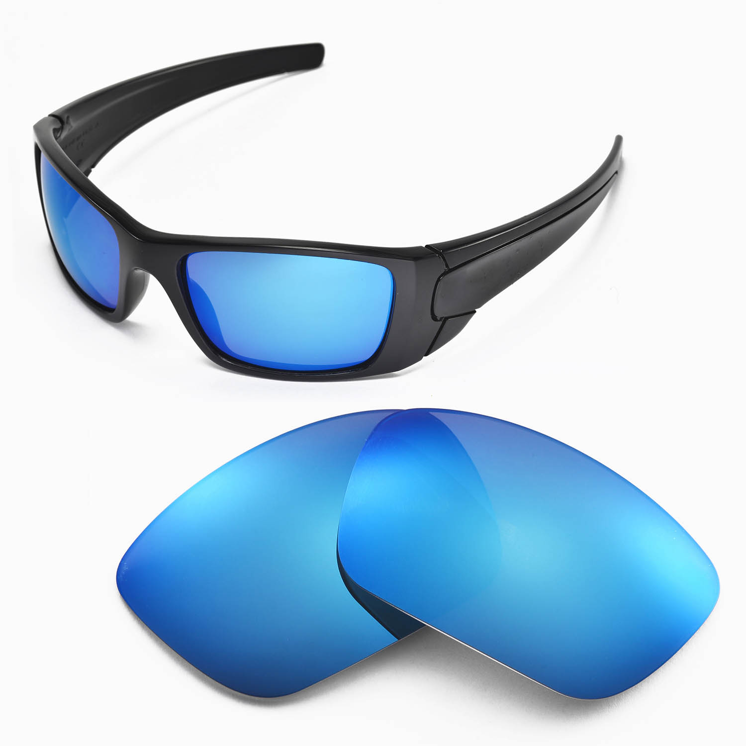 6f2f8eda2f Details about New Walleva Ice Blue Replacement Lenses For Oakley Fuel Cell  Sunglasses