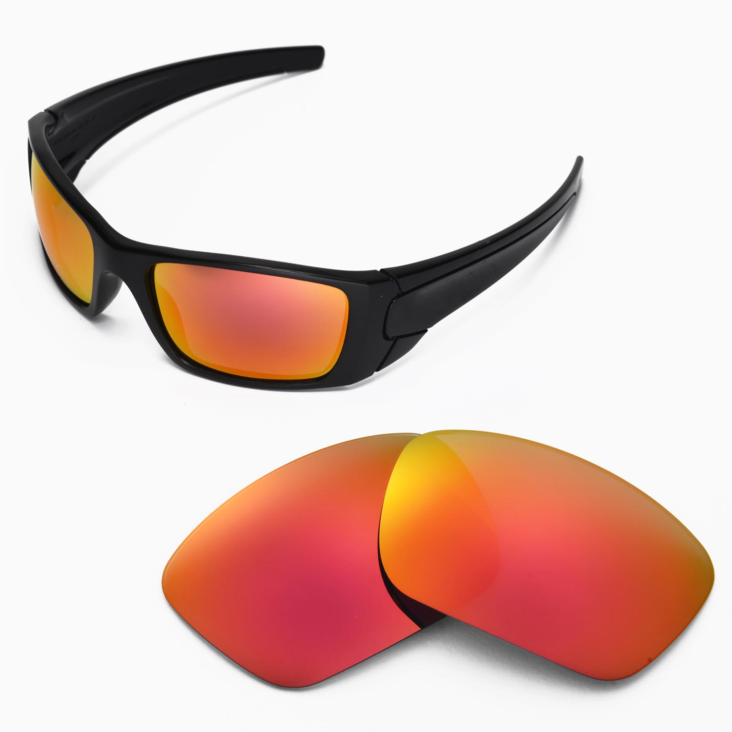 Oakley Fuel Cell Polarized >> New Walleva Polarized Fire Red Lenses For Oakley Fuel Cell