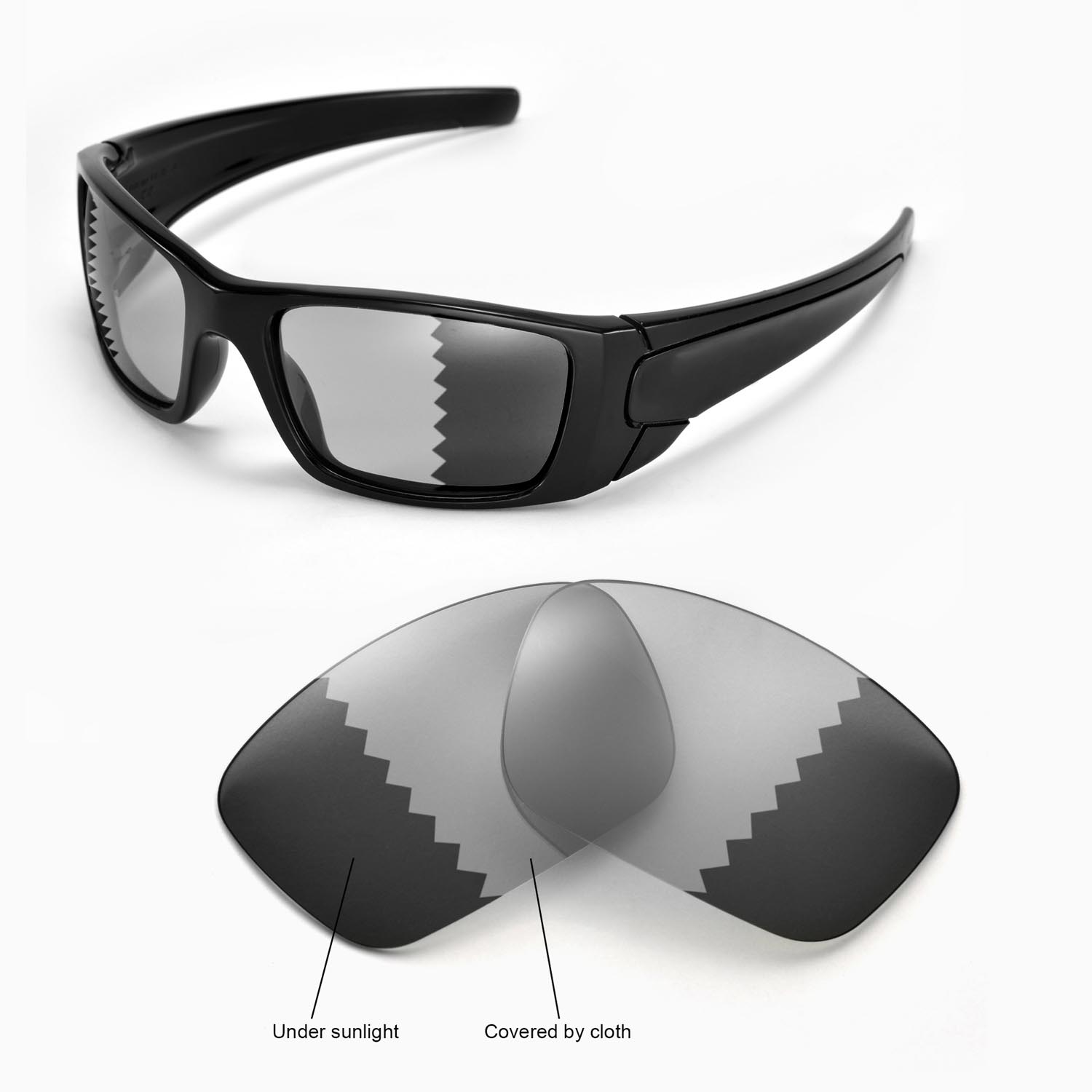578e896f53 Details about New Walleva Polarized Transition Photochromic Lenses For  Oakley Fuel Cell