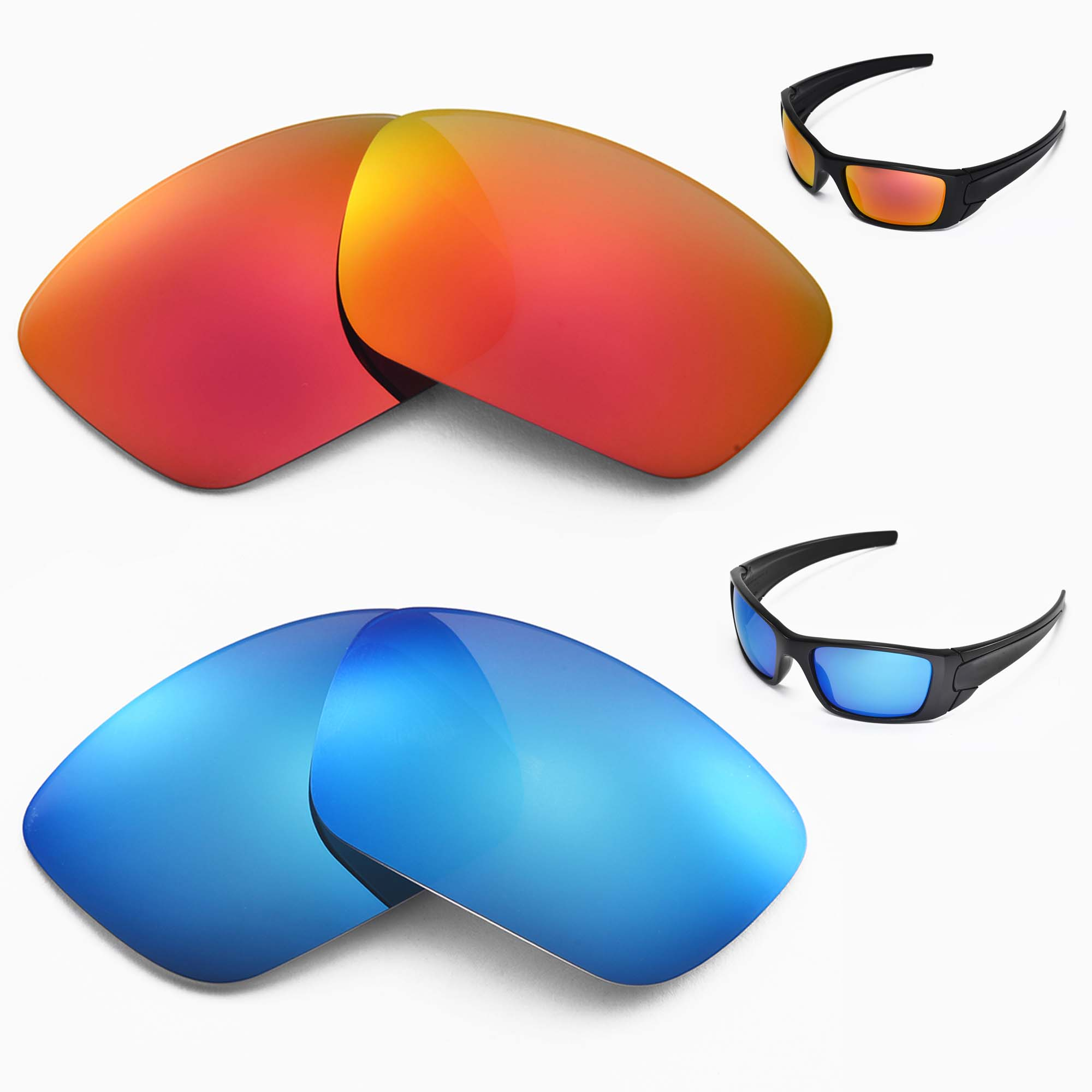 59f0cdb525 ... Walleva Polarized Fire Red Lenses for Oakley Fuel Cell x1  Walleva  Microfiber Lens Cleaning Cloth x2. main image