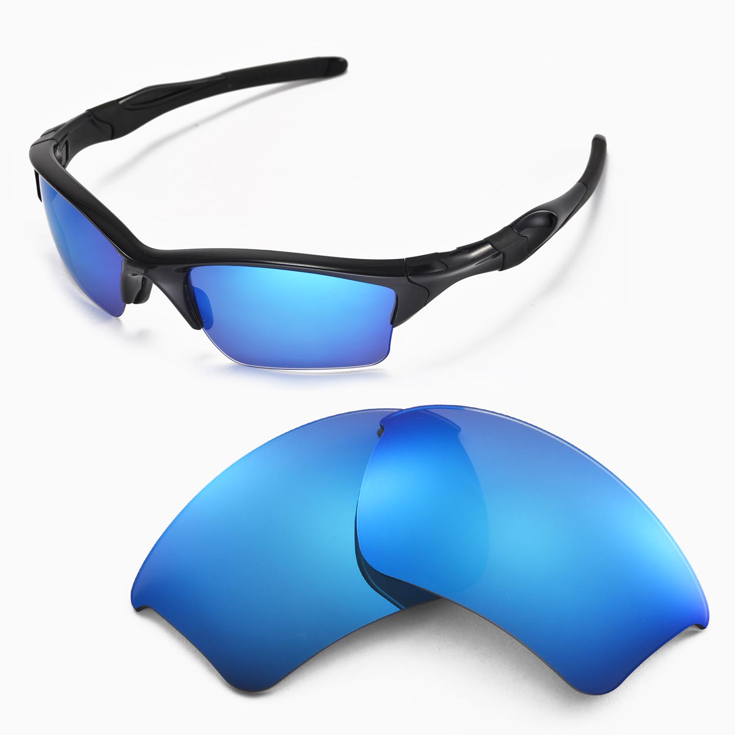Oakley Half Jacket 2 0 Xl >> Details About New Walleva Ice Blue Replacement Lenses For Oakley Half Jacket 2 0 Xl Sunglasses