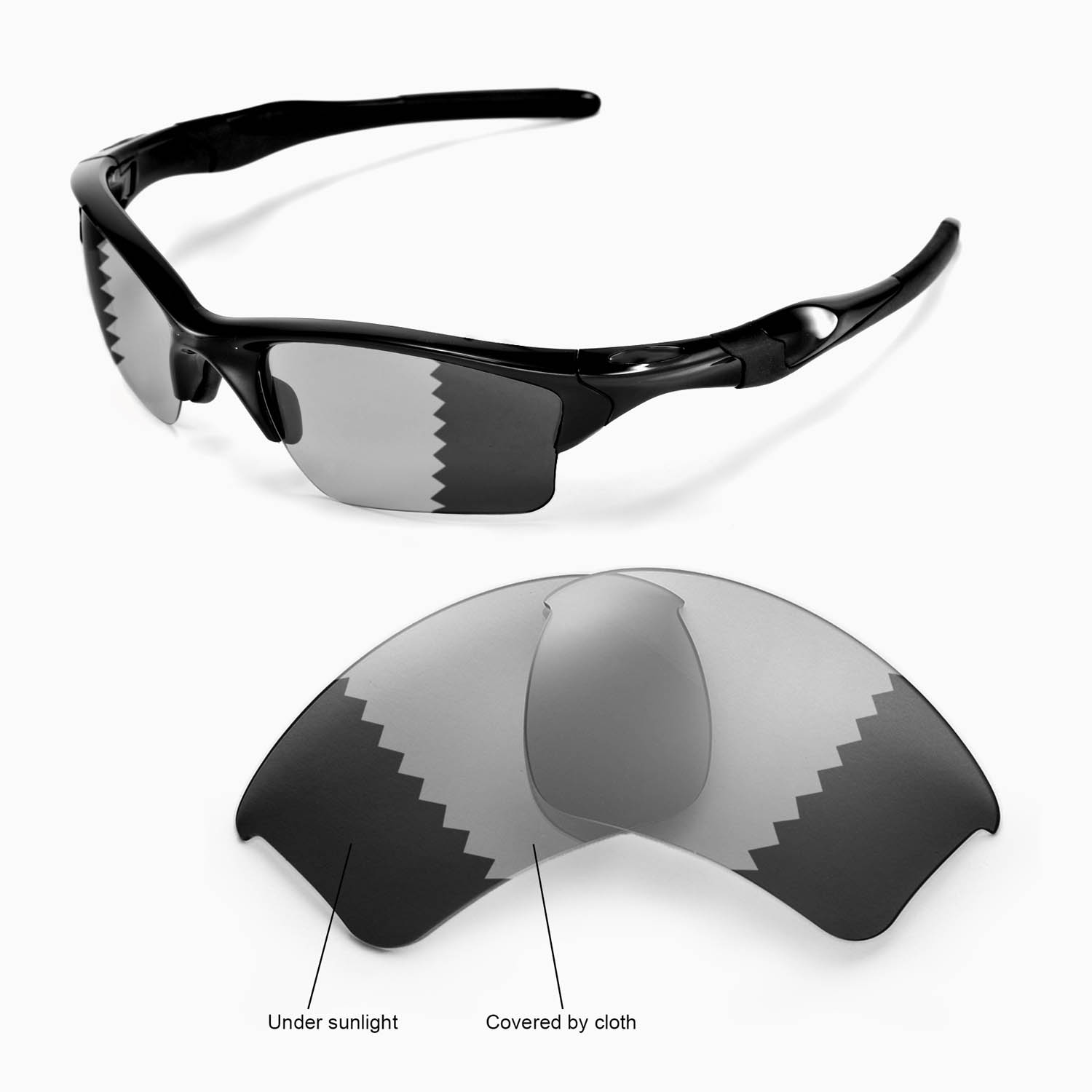 Half Jacket 2 0 >> Details About New Wl Polarized Transition Photochromic Lenses For Oakley Half Jacket 2 0 Xl