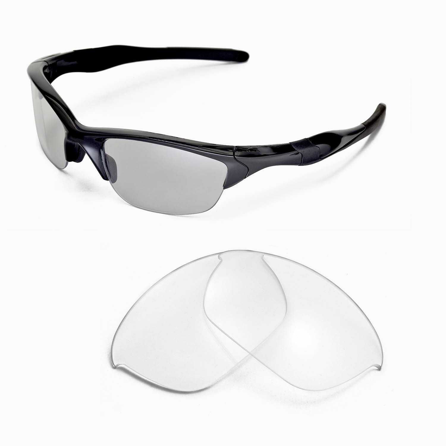 ebbc021f10 Details about New WL Clear Replacement Lenses For Oakley Half Jacket 2.0  Sunglasses