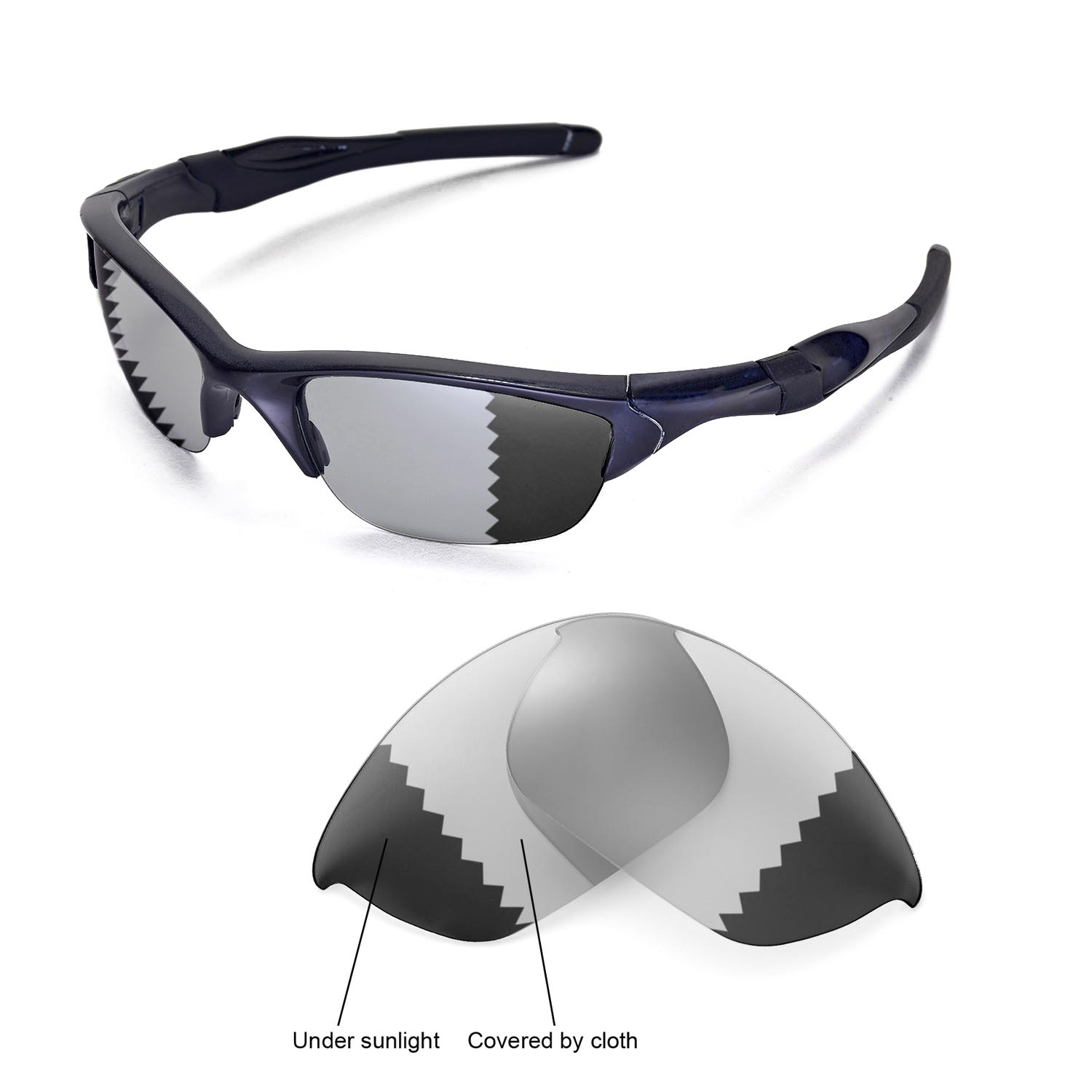 c32a867488f92 Details about New Walleva Polarized Transition Photochromic Lenses For Oakley  Half Jacket 2.0