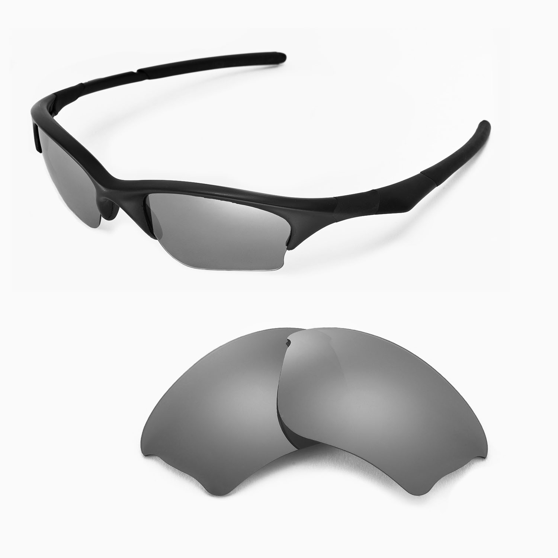 c3b797ded0 Details about New Walleva Titanium Replacement Lenses For Oakley Half Jacket  XLJ Sunglasses