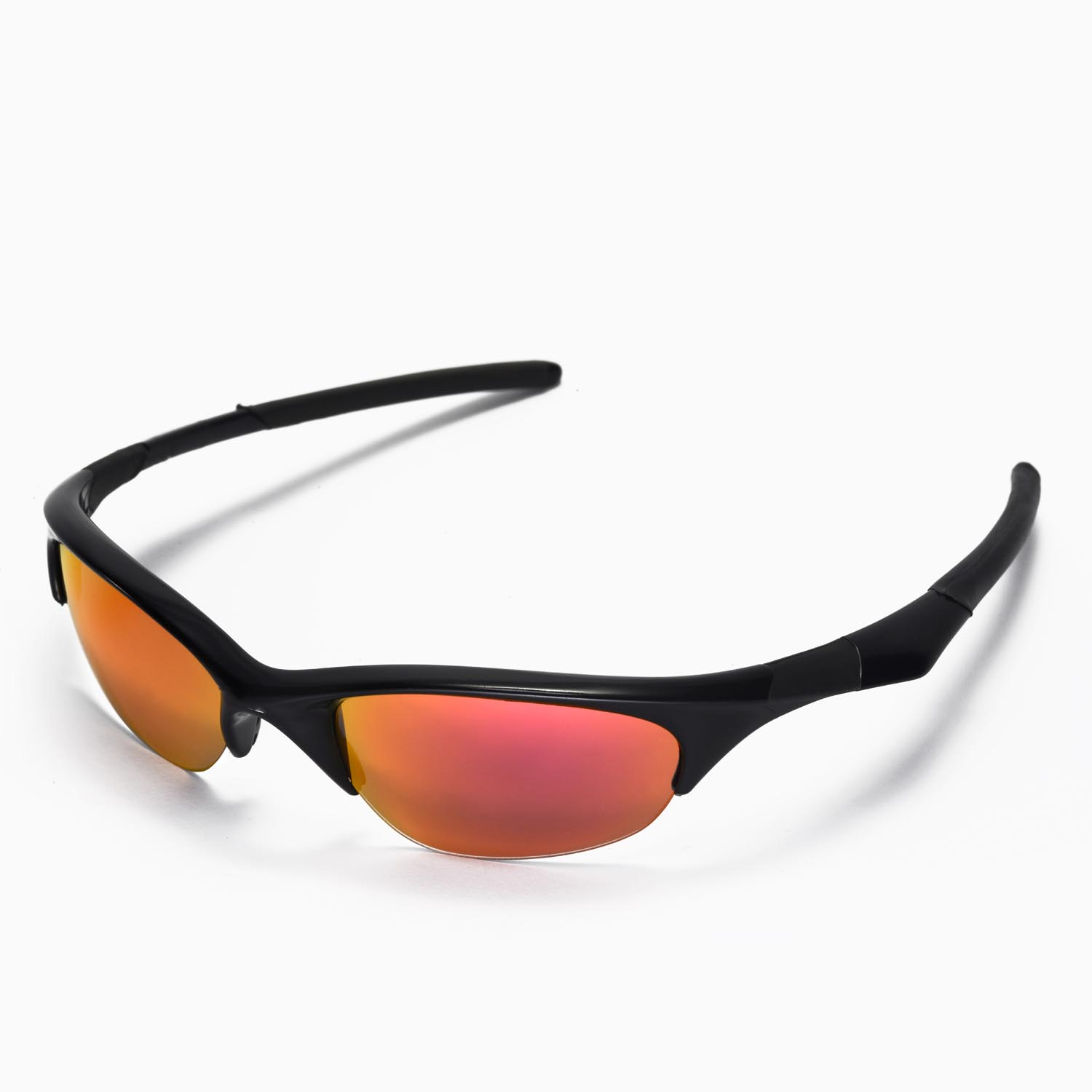 New Walleva Fire Red Replacement Lenses For Oakley Half