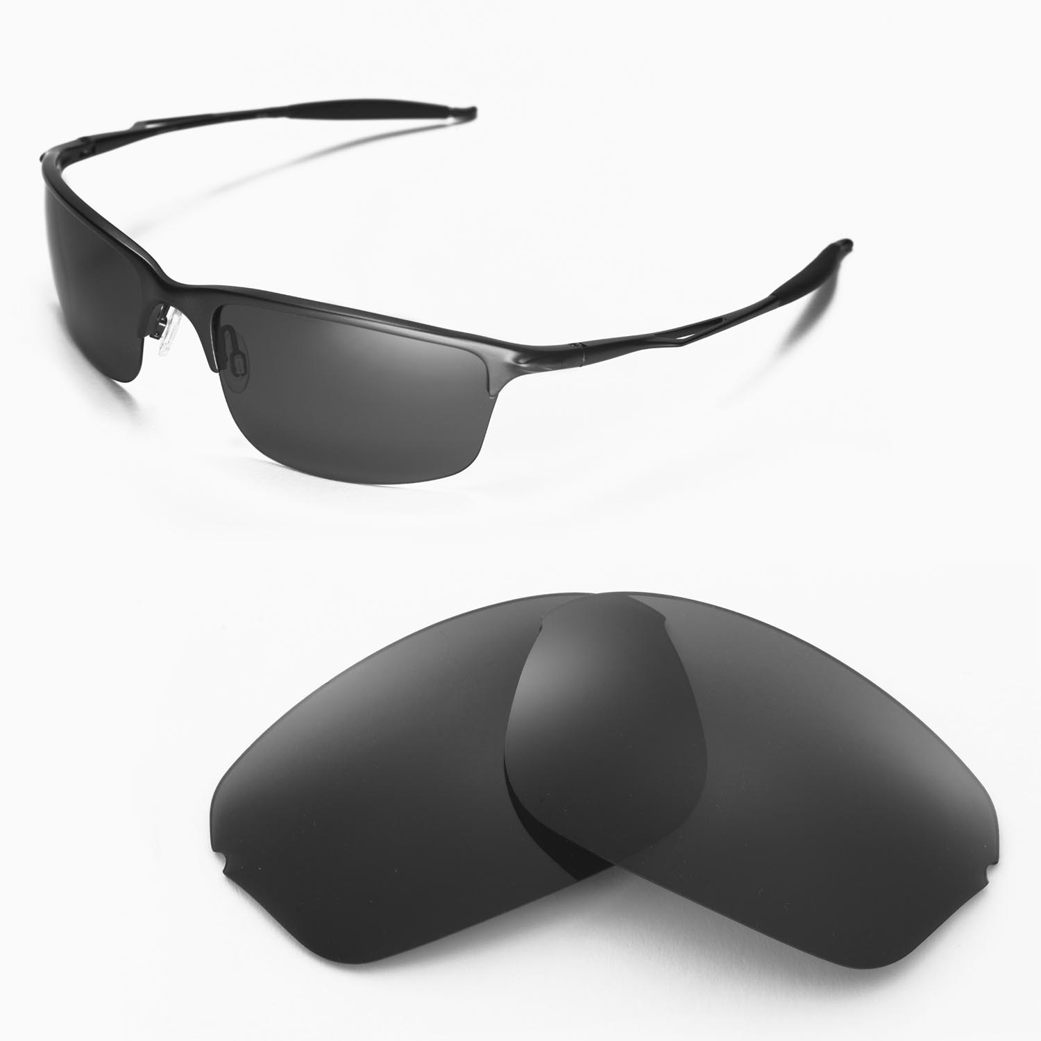 5424fa90fc1e Details about New Walleva Polarized Black Replacement Lenses For Oakley  Half Wire 2.0