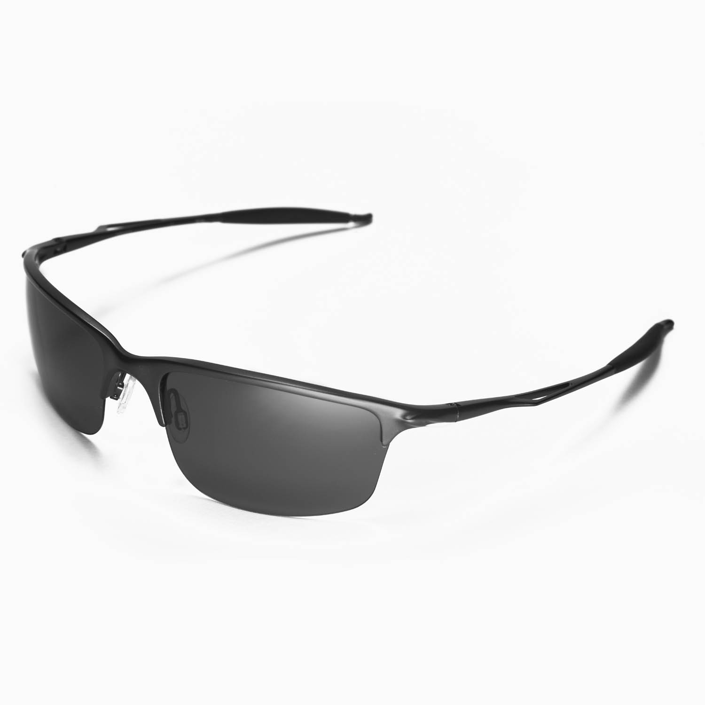 f29dbe898b51 Walleva Polarized Black Lenses for Oakley Half Wire 2.0 x1; Walleva  Microfiber Lens Cleaning Cloth x1