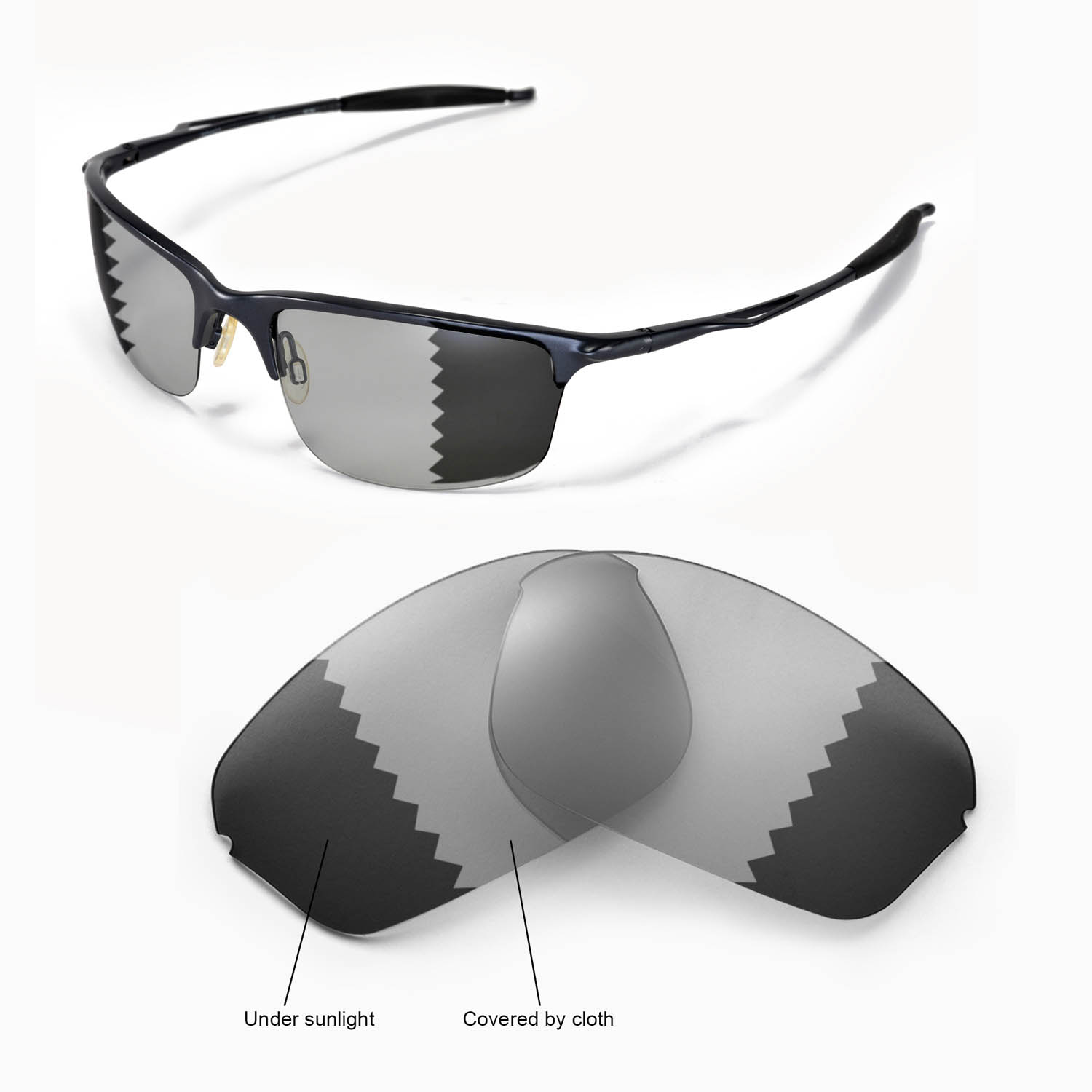 New Walleva Polarized Transition/Photochromic Lenses For Oakley Half ...
