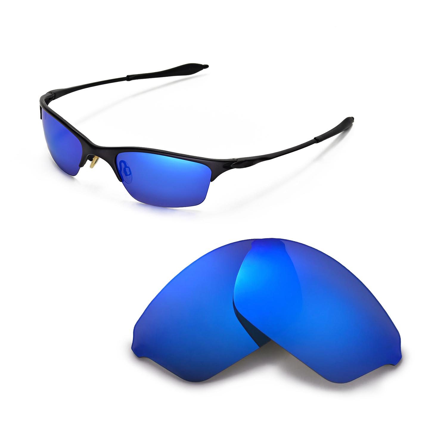 5468089b84 Details about New WL Polarized Ice Blue Replacement Lenses For Oakley Half  Wire XL Sunglasses