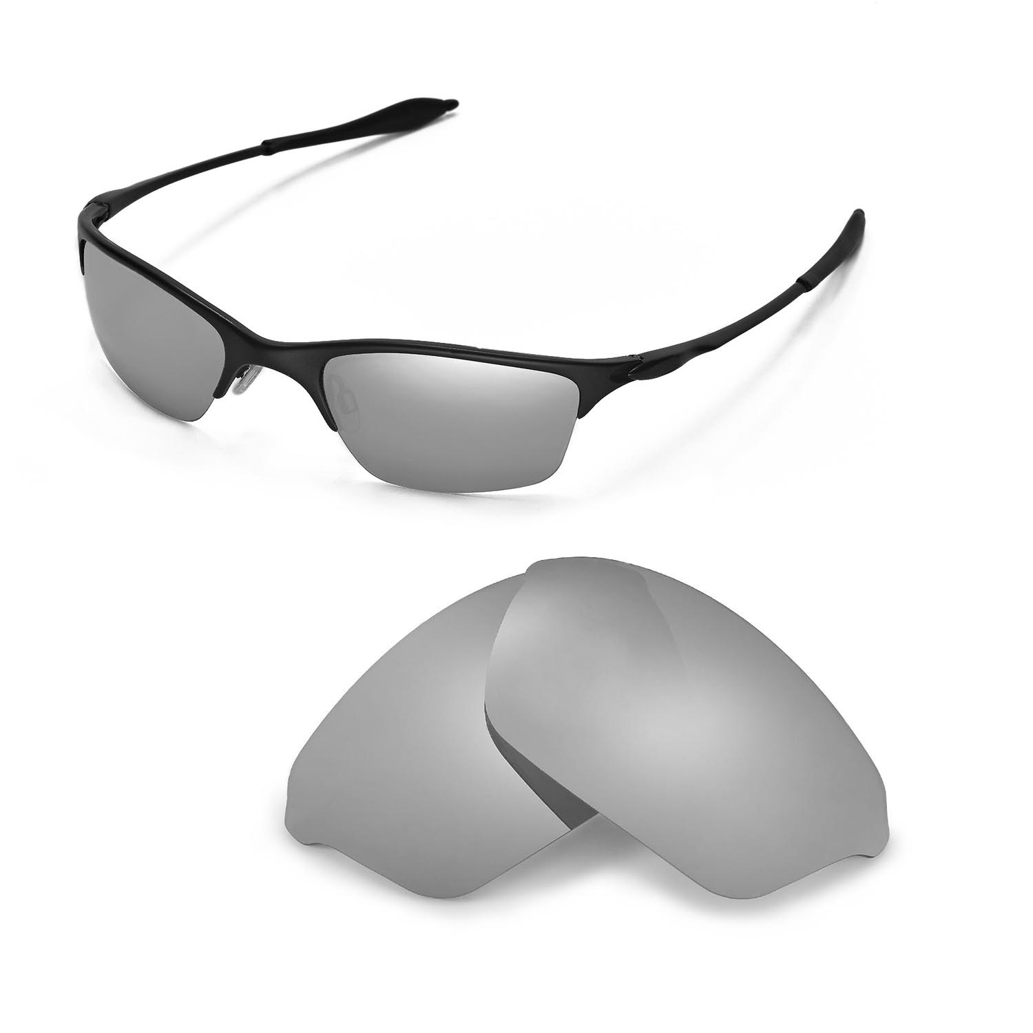 New WL Polarized Titanium Replacement Lenses For Oakley Half Wire XL ...