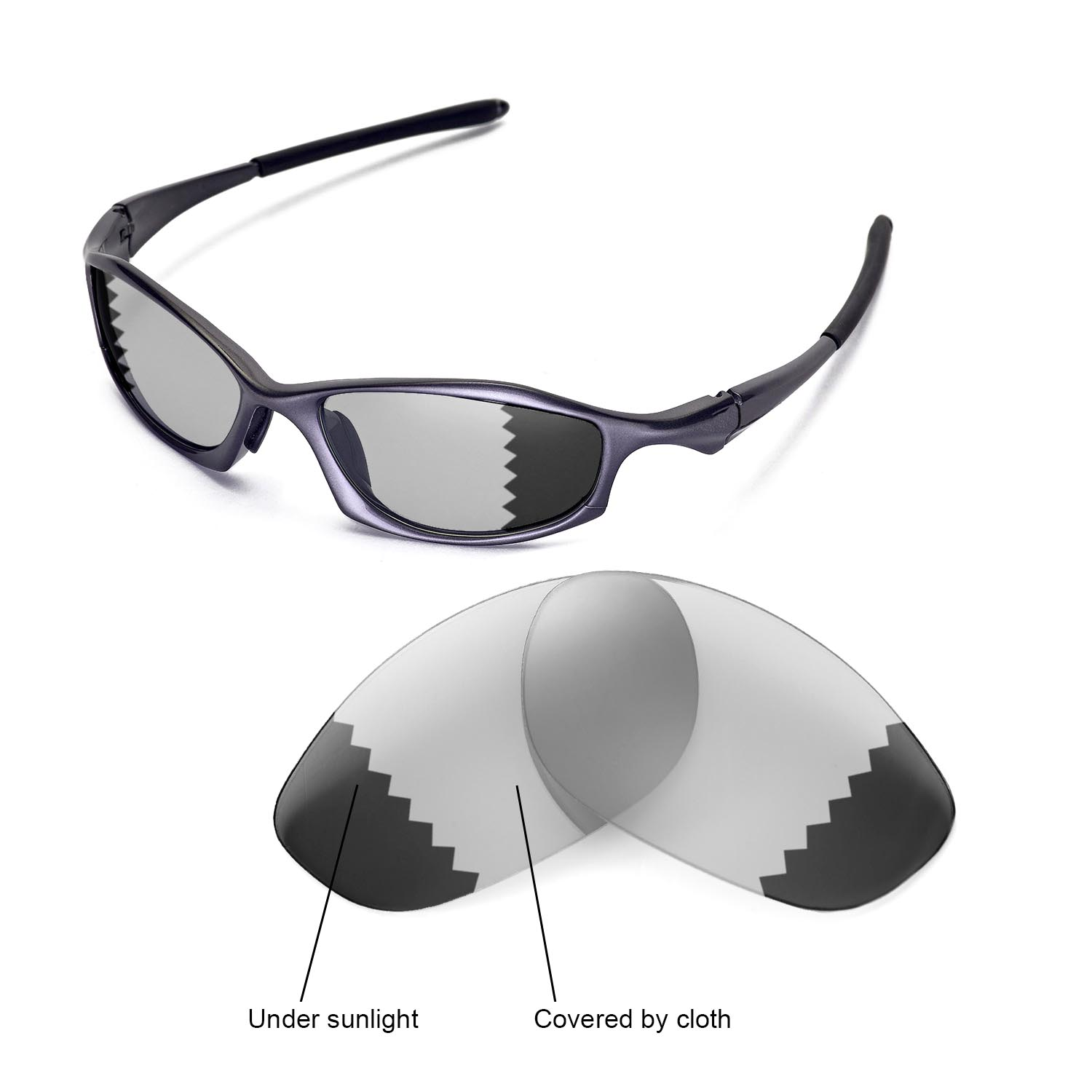 99c2a574f2e Details about New Walleva Polarized Transition Photochromic Lenses For  Oakley Hatchet Wire