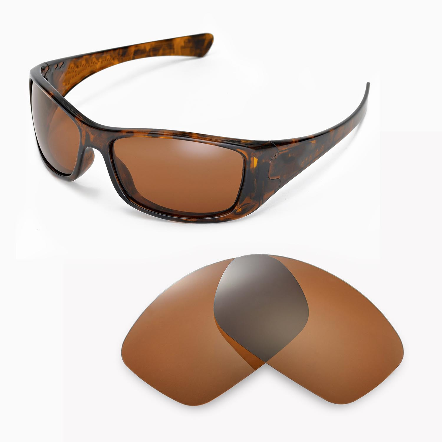 08ab638e8ab Details about New Walleva Polarized Brown Replacement Lenses For Oakley  Hijinx Sunglasses