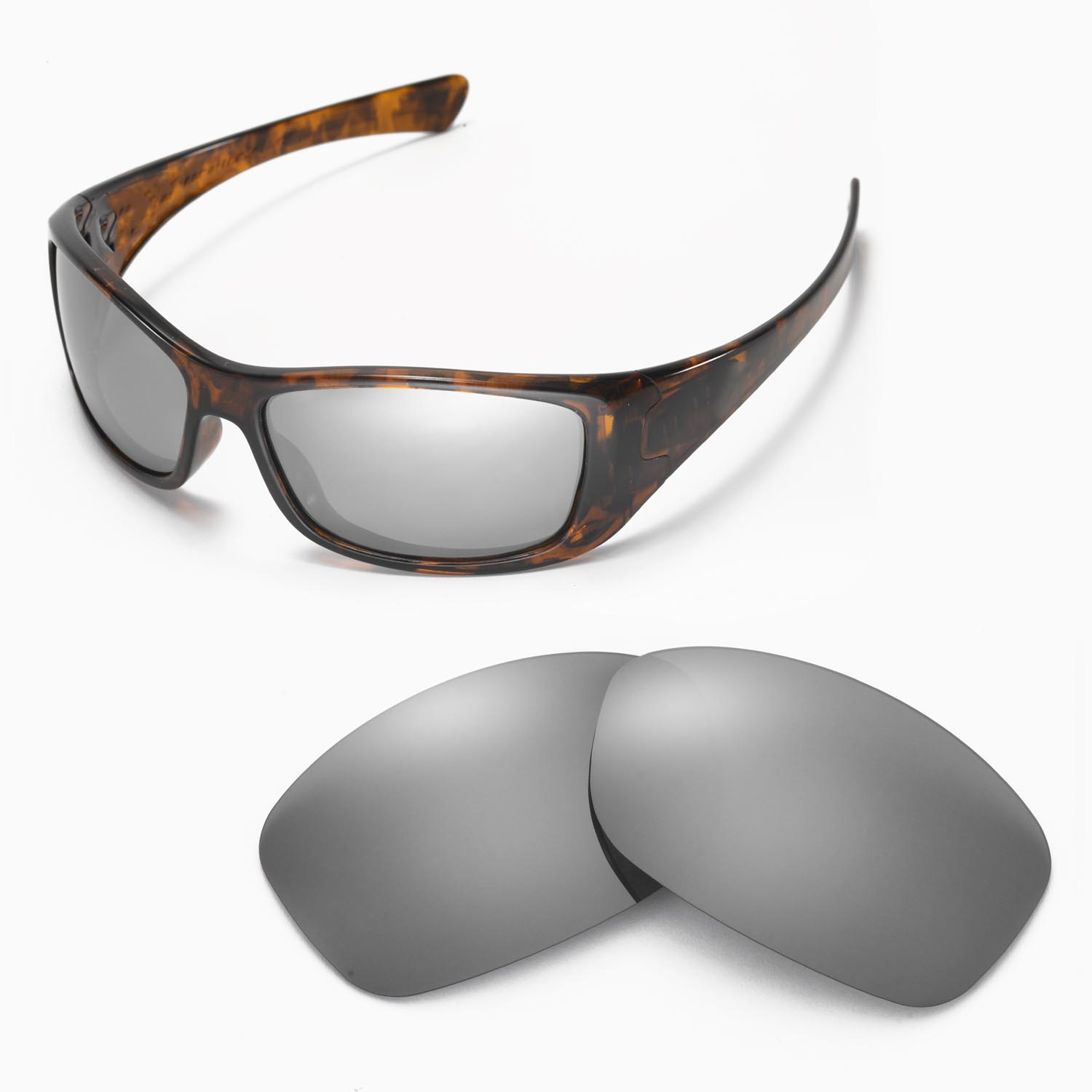 2798799cbb3 Details about New Walleva Polarized Titanium Replacement Lenses For Oakley  Hijinx Sunglasses
