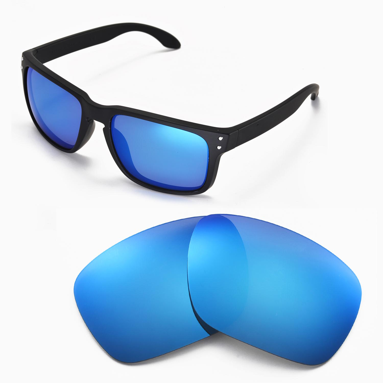 41d3f58ad5cb7 Details about New Walleva Polarized Ice Blue Lenses For Oakley Holbrook