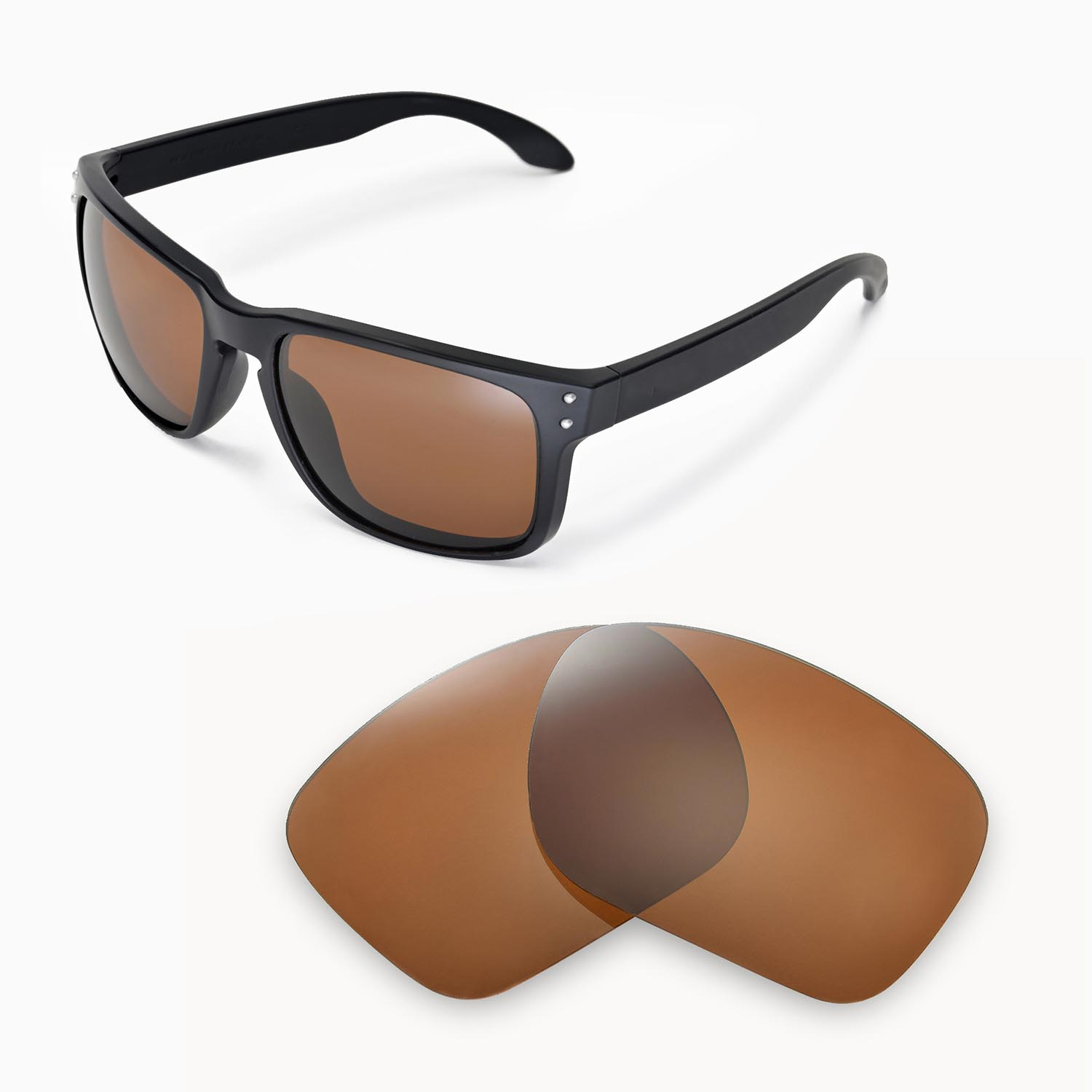 1cffb9854f Details about New Walleva Polarized Brown Replacmeent Lenses For Oakley  Holbrook Sunglasses